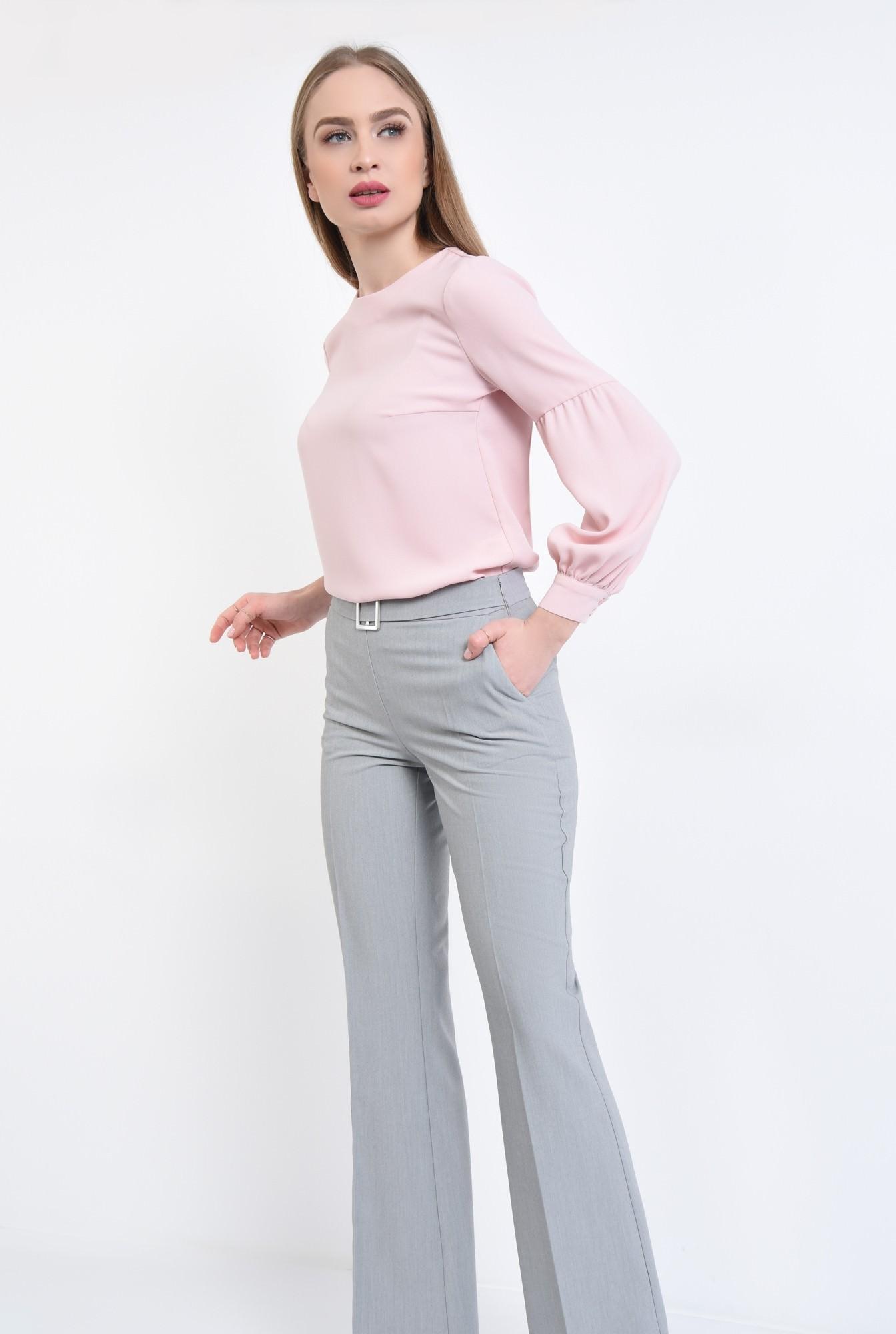 3 - Bluza casual, roz, maneci lungi