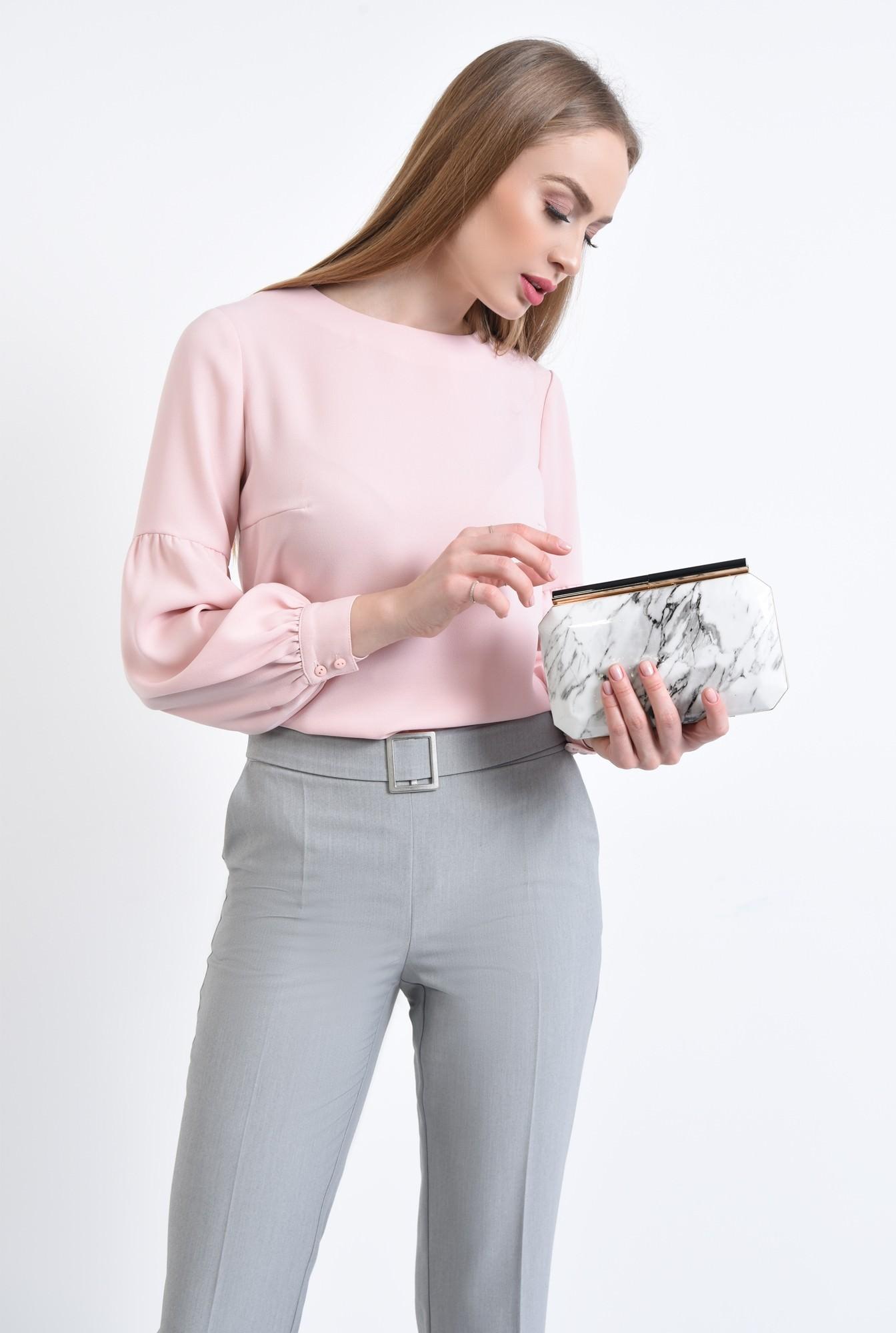 2 - Bluza casual, roz, maneci lungi