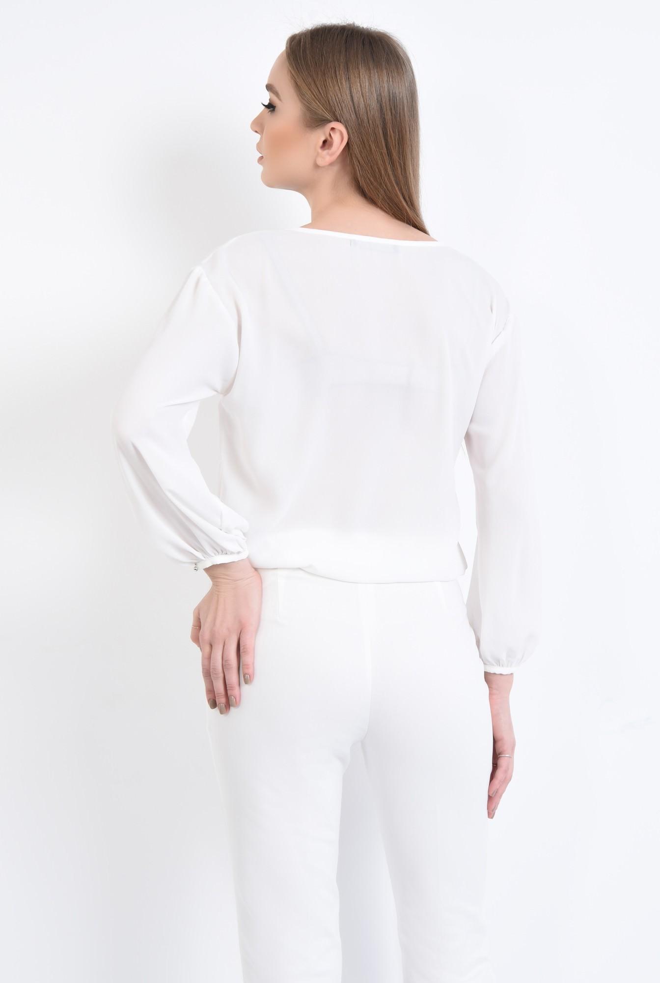 1 - Bluza casual, alb, maneci lungi