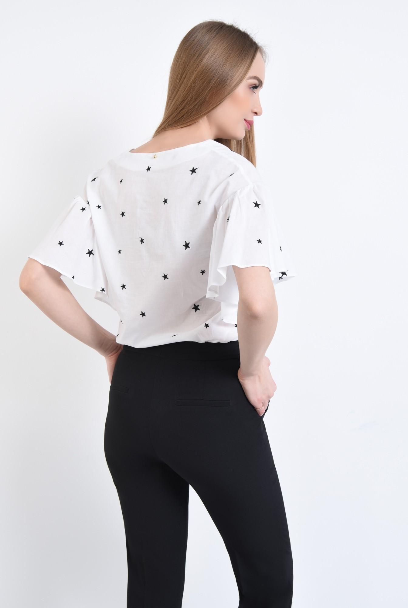 1 - Bluza casual, alb, anchior
