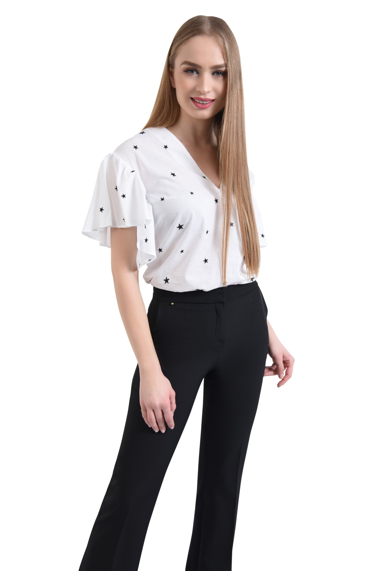 0 - Bluza casual, alb, anchior
