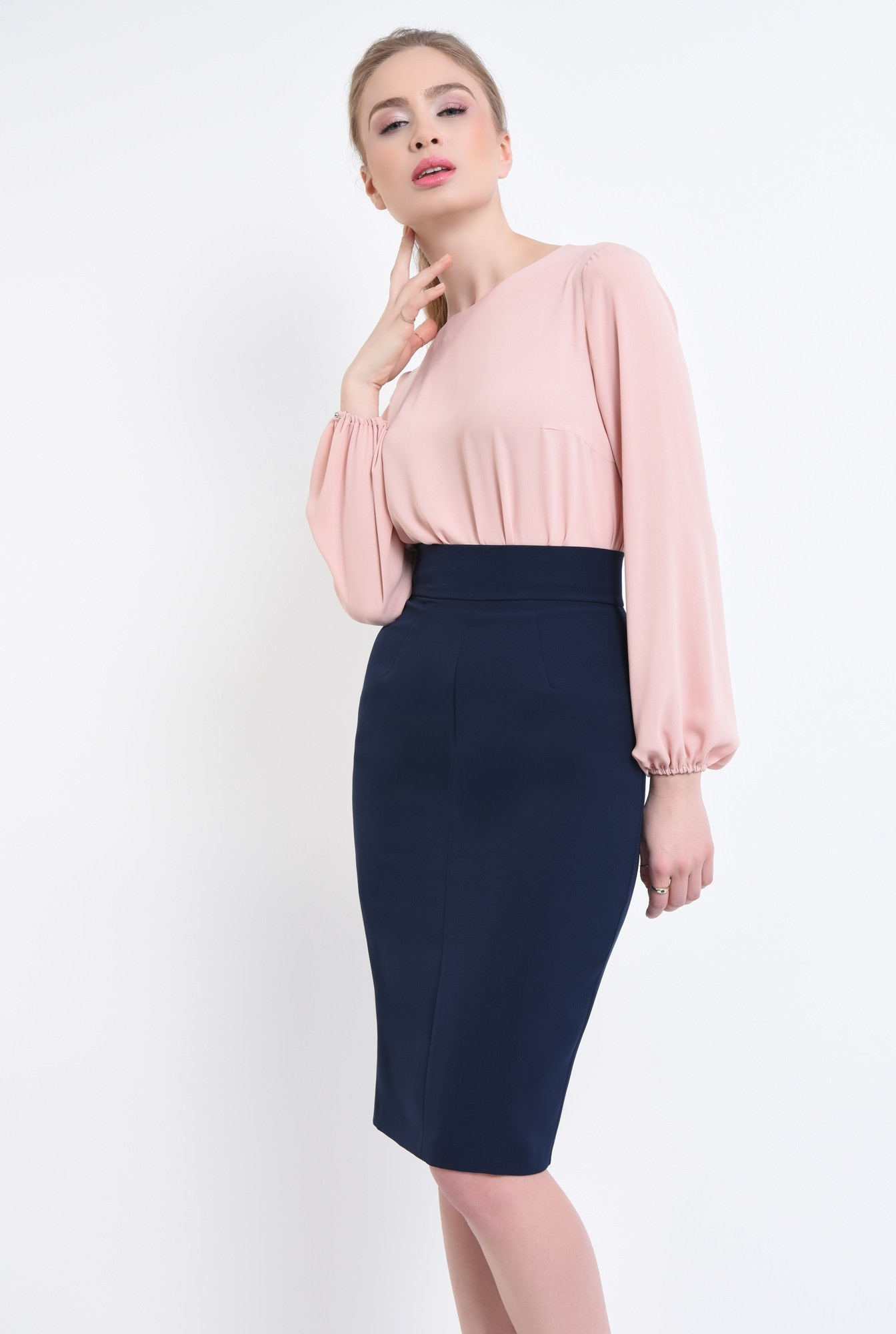 0 - 360 - Bluza casual, inchidere cu nasturi
