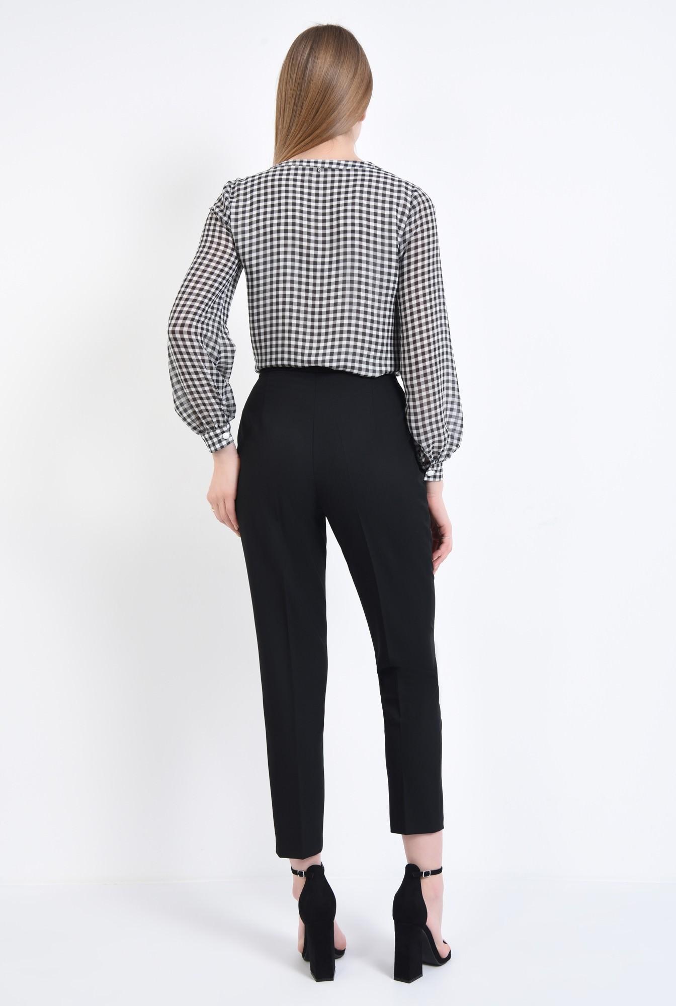 1 - Bluza casual, contrast, alb-negru