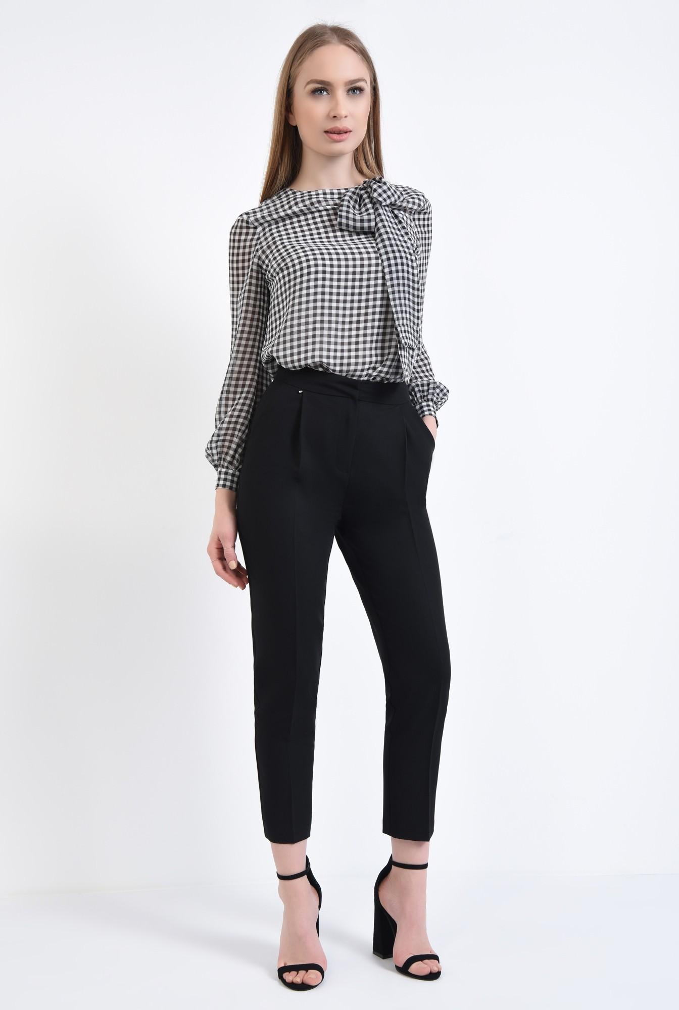 3 - Bluza casual, contrast, alb-negru