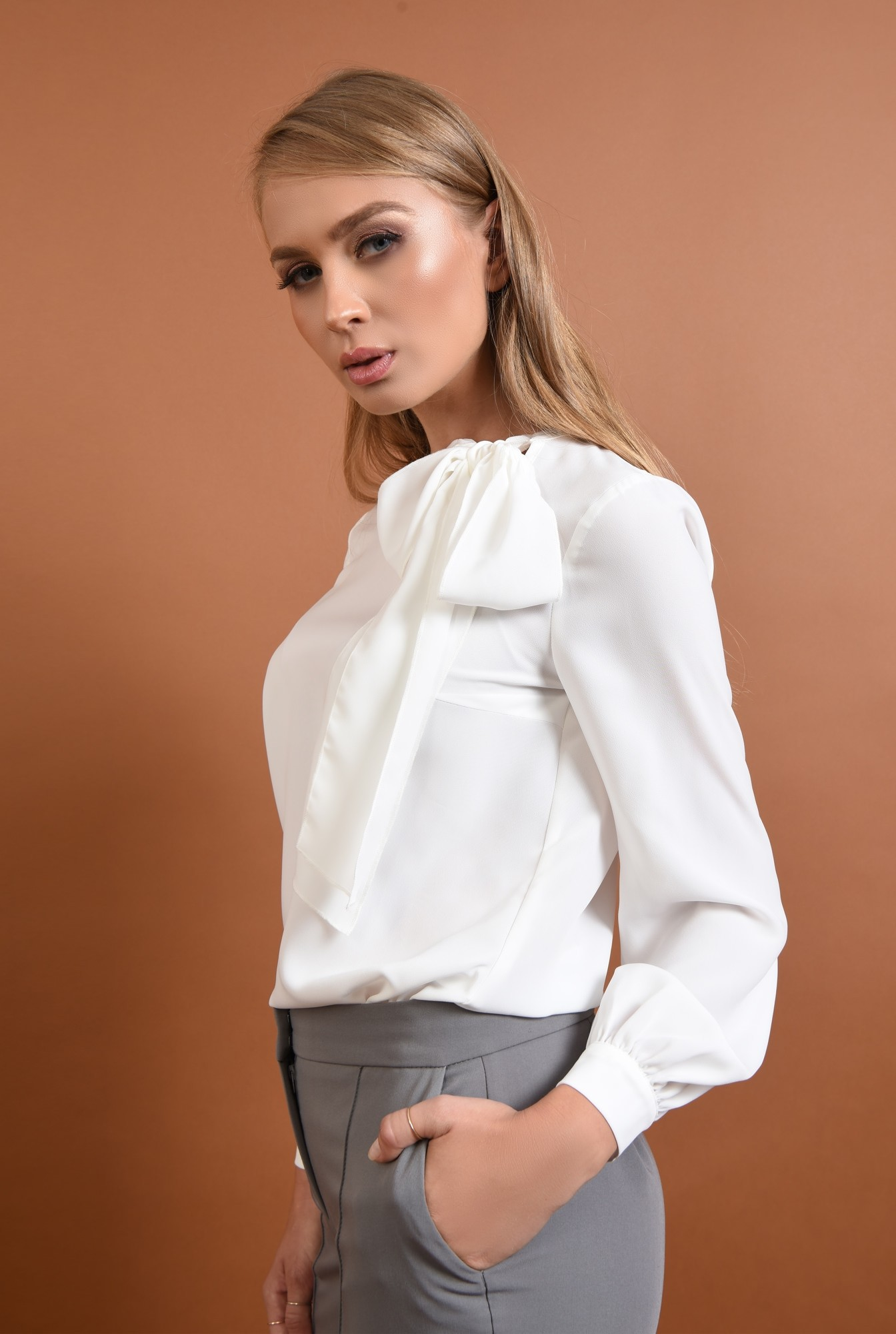 1 - Bluza casual, alb