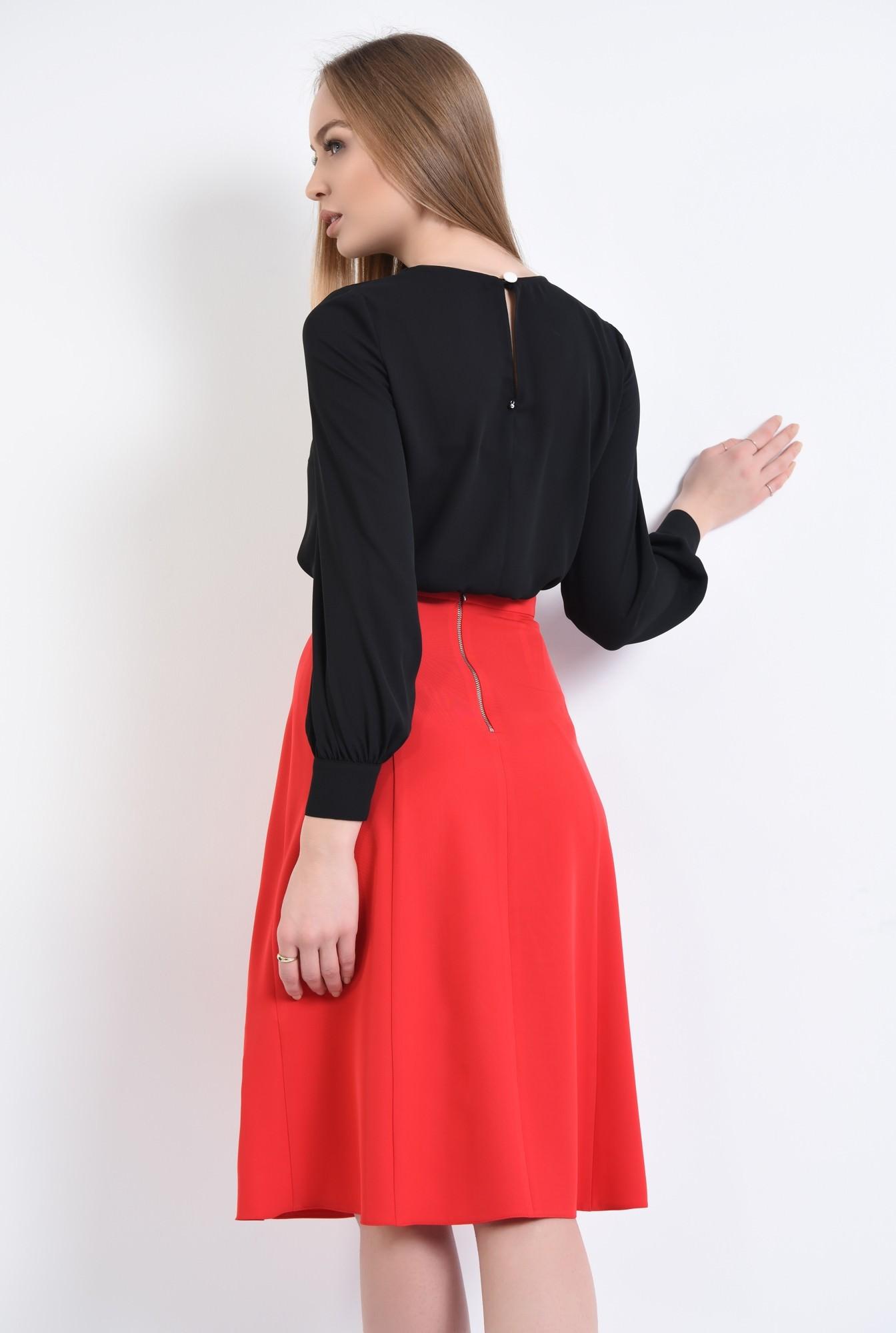 1 - 360 - Bluza eleganta, maneci bufante, mansete