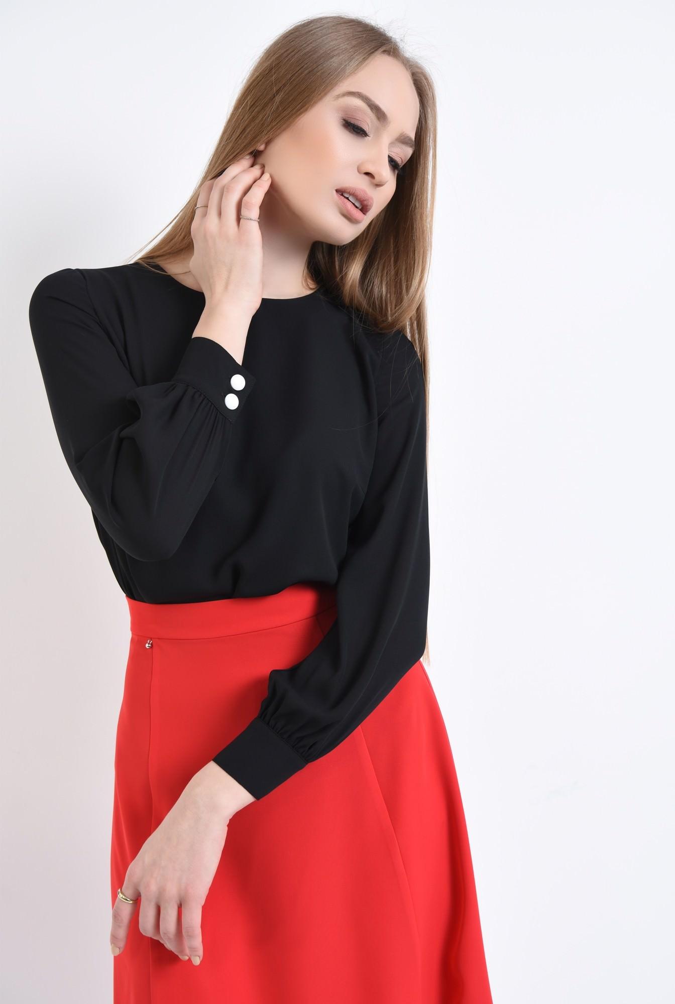 0 - 360 - Bluza eleganta, maneci bufante, mansete