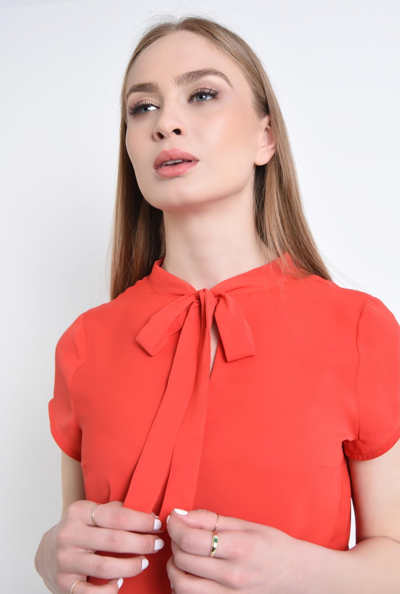 2 - 360 - Bluza de vara, cu esarfa, rosu