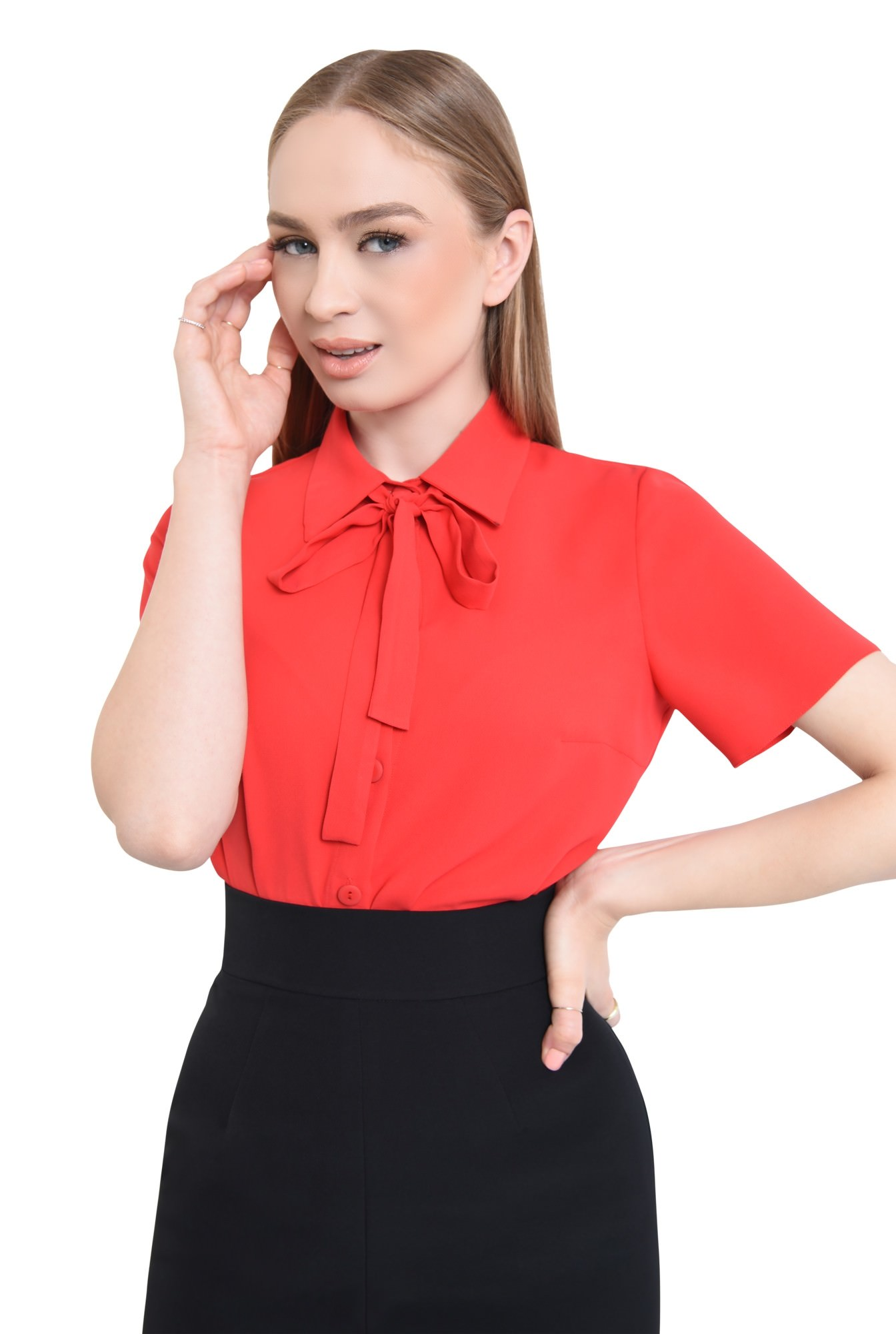 2 - Bluza eleganta, cu funda