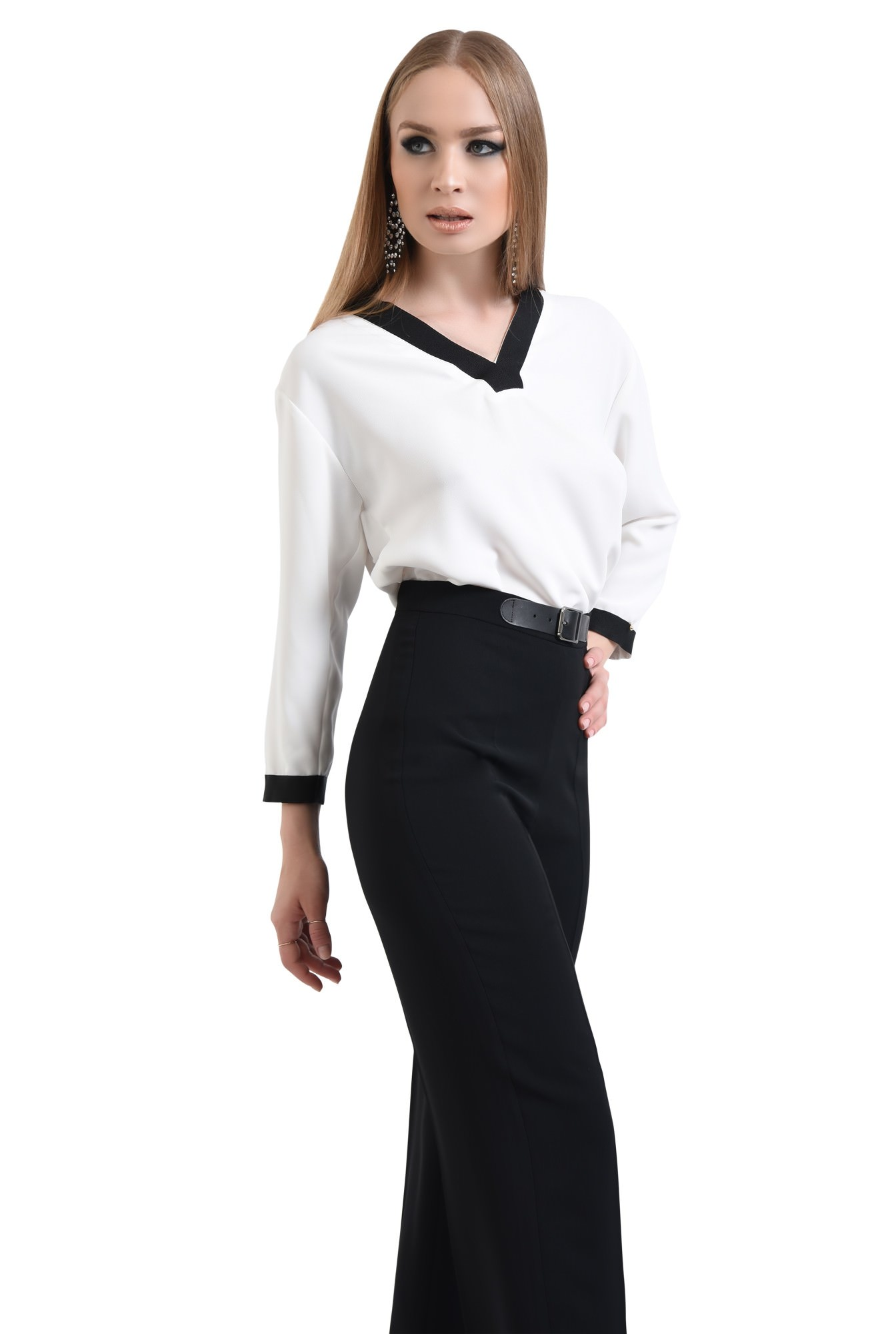 0 - Bluza eleganta, maneci lungi