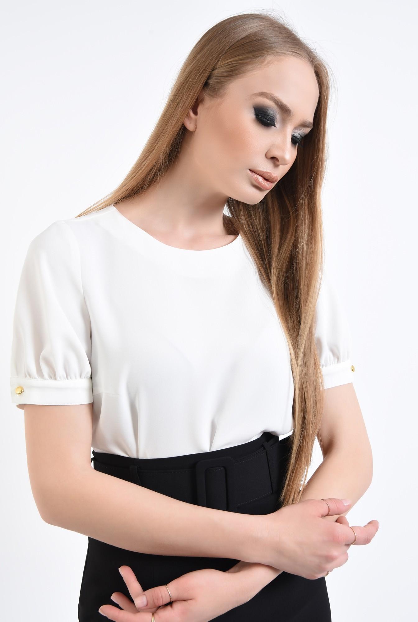 2 - 360 - Bluza eleganta, decolteu rotund, ivoar