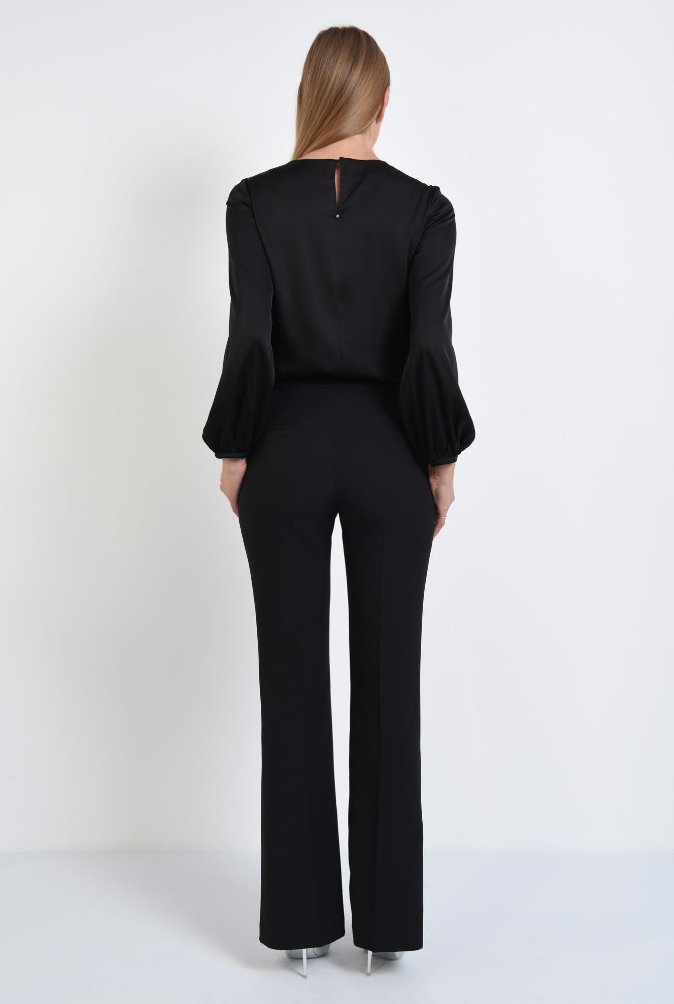1 - 360 - bluza eleganta, cu volane, dantela aplicata, maneci lungi, mansete elastice
