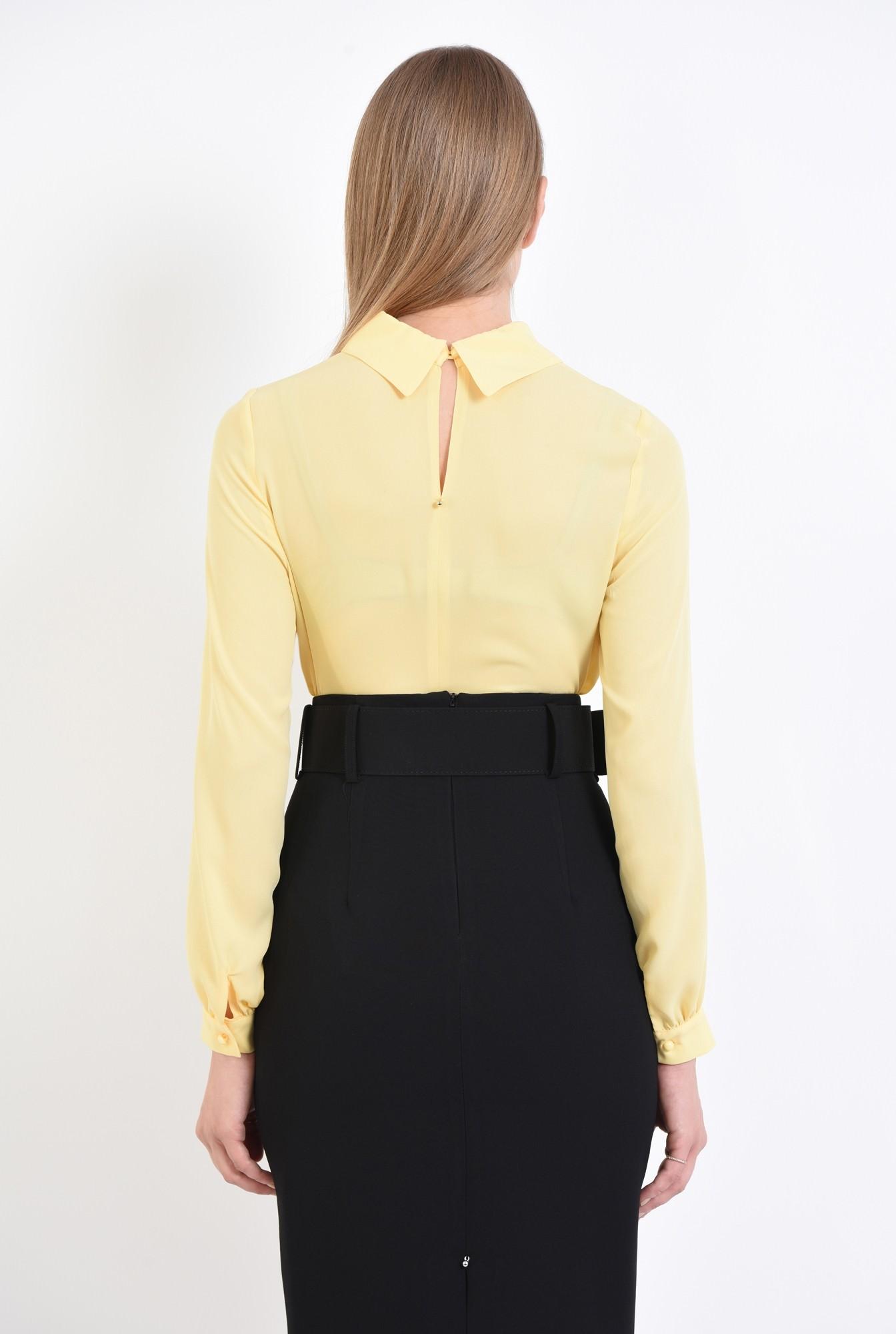 1 - bluza casual, galben, maneci lungi