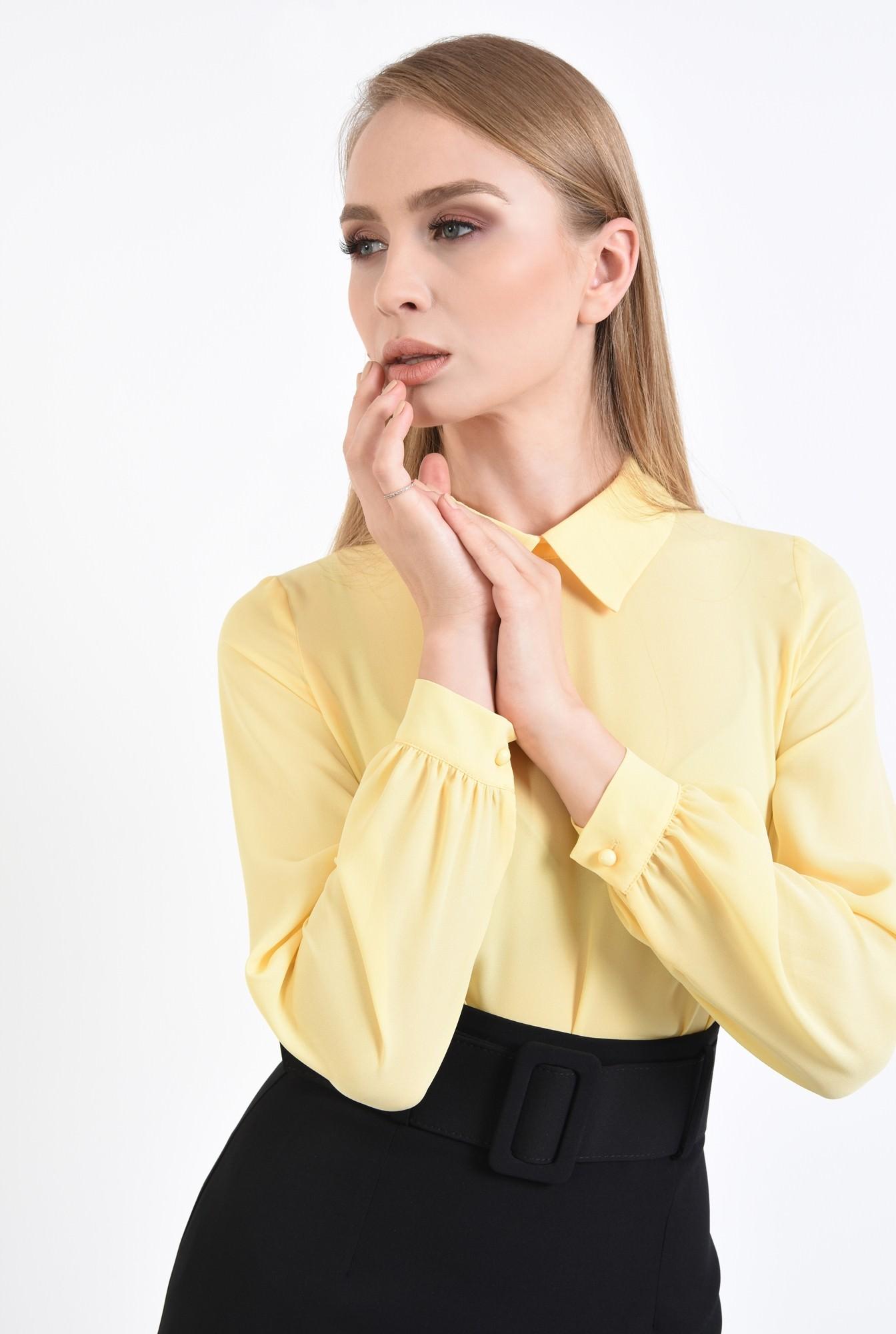2 - bluza casual, galben, maneci lungi