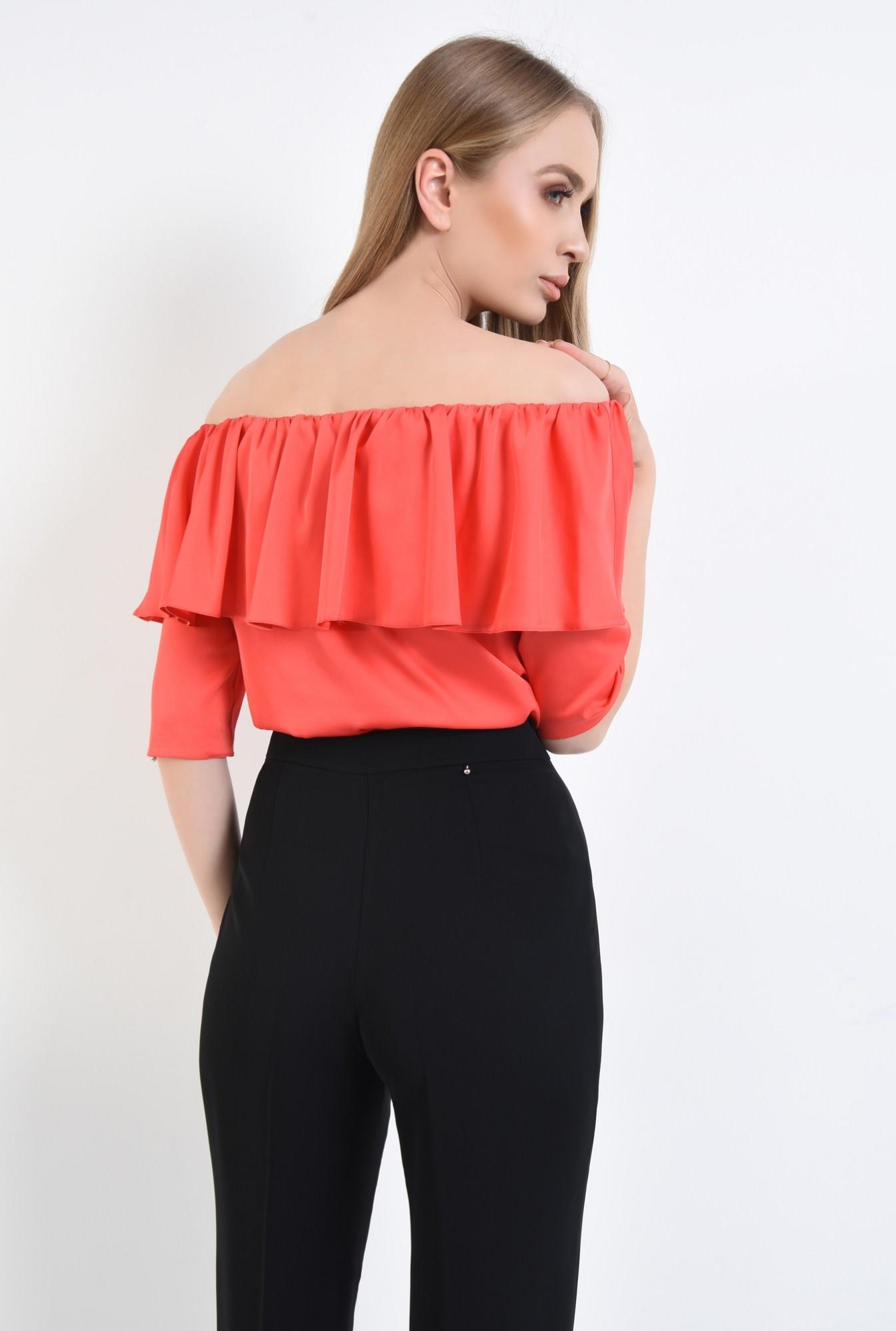 1 - Bluza eleganta, satin, rosu