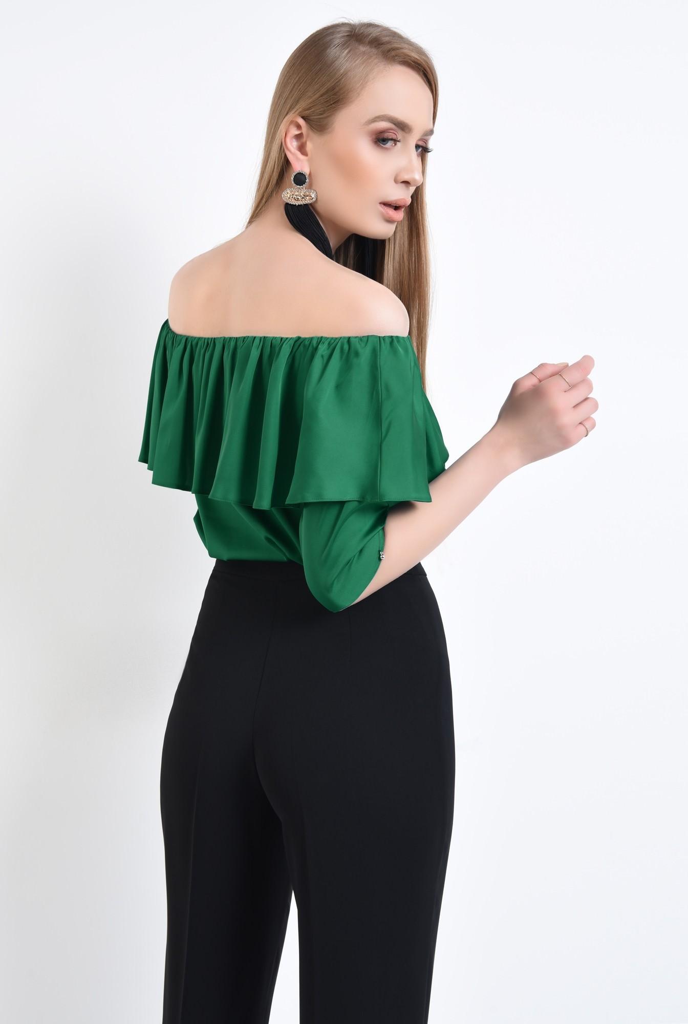 1 - Bluza eleganta, din sifon, tesatura, elastic