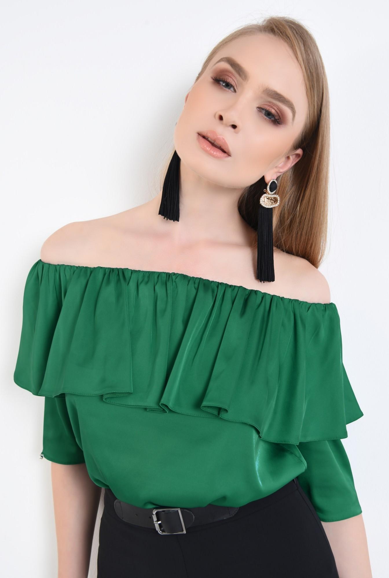 2 - Bluza eleganta, din sifon, tesatura, elastic