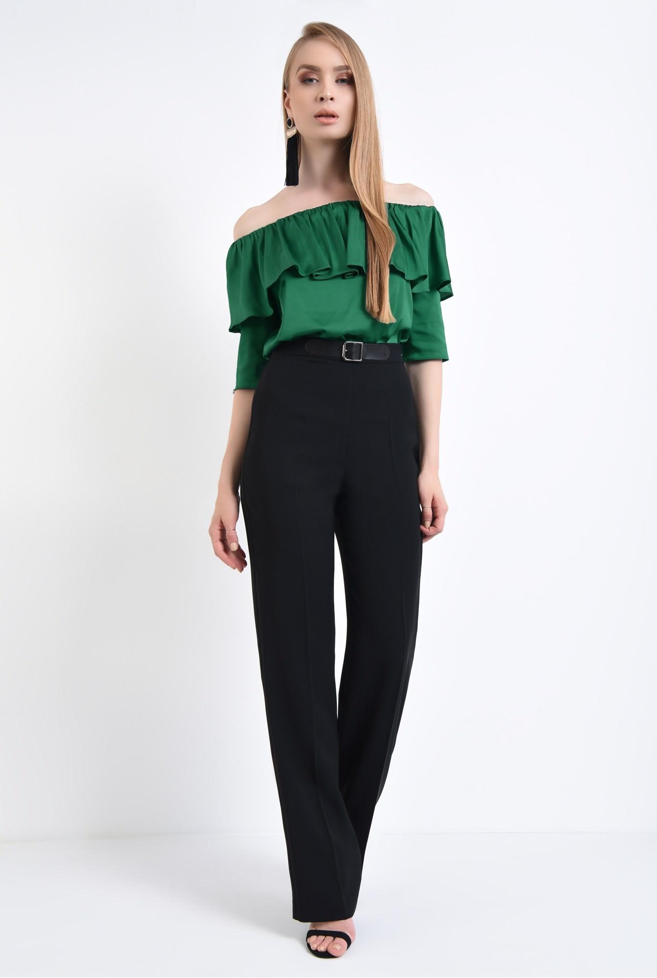 3 - Bluza eleganta, din sifon, tesatura, elastic