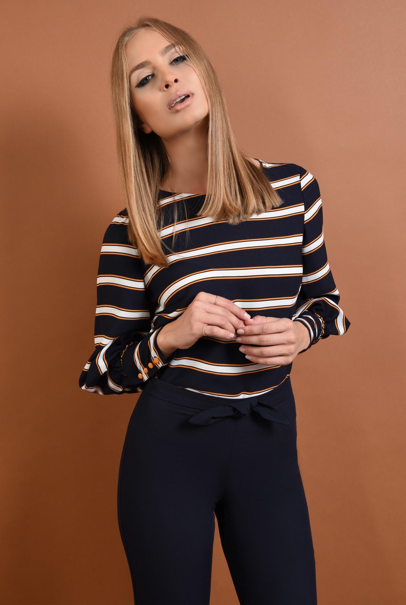 0 - bluze online, tesatura cu dungi, mansete cu 4 nasturi