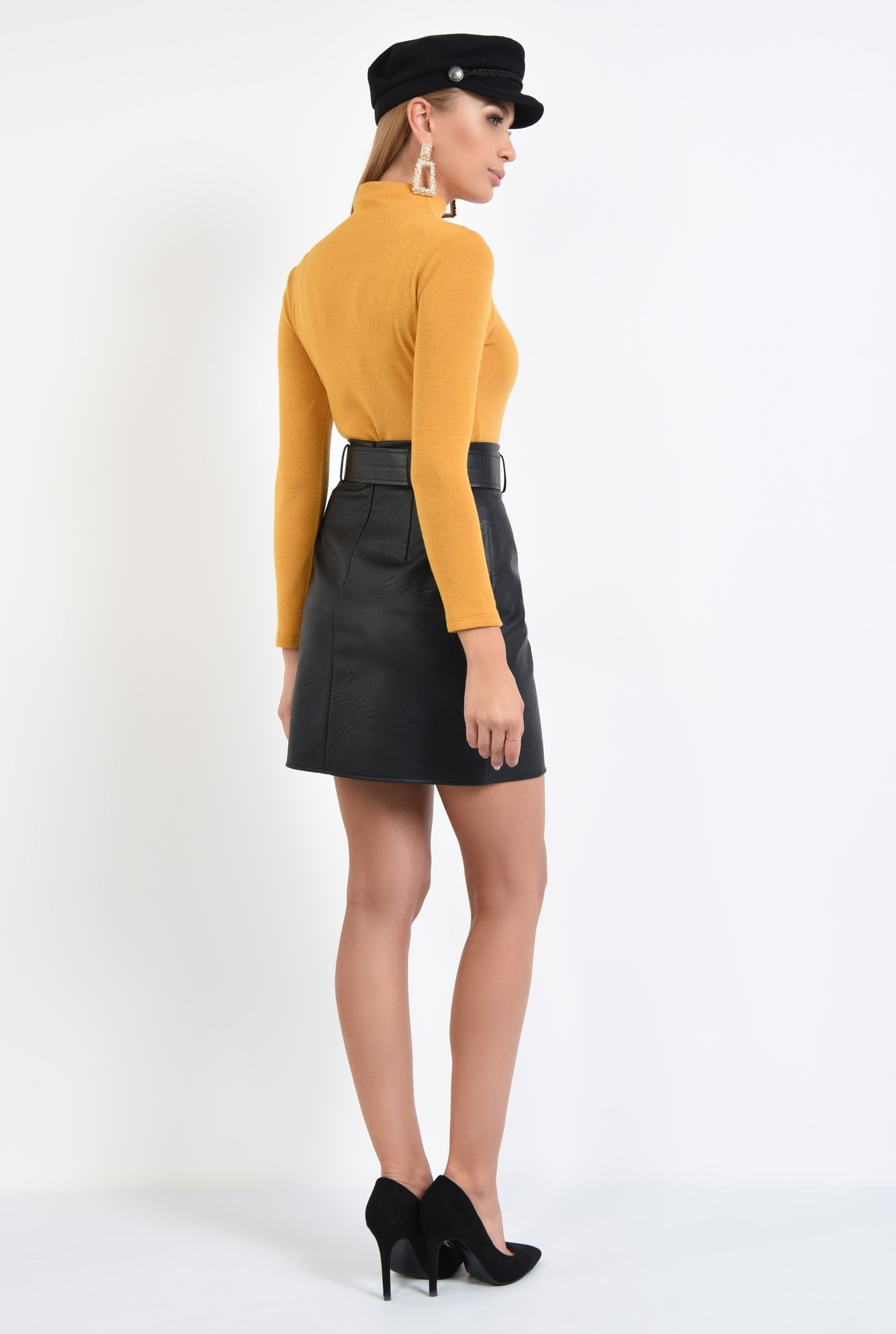 1 - 360 - helanca mustar, pulover, bluze online, tricotaje