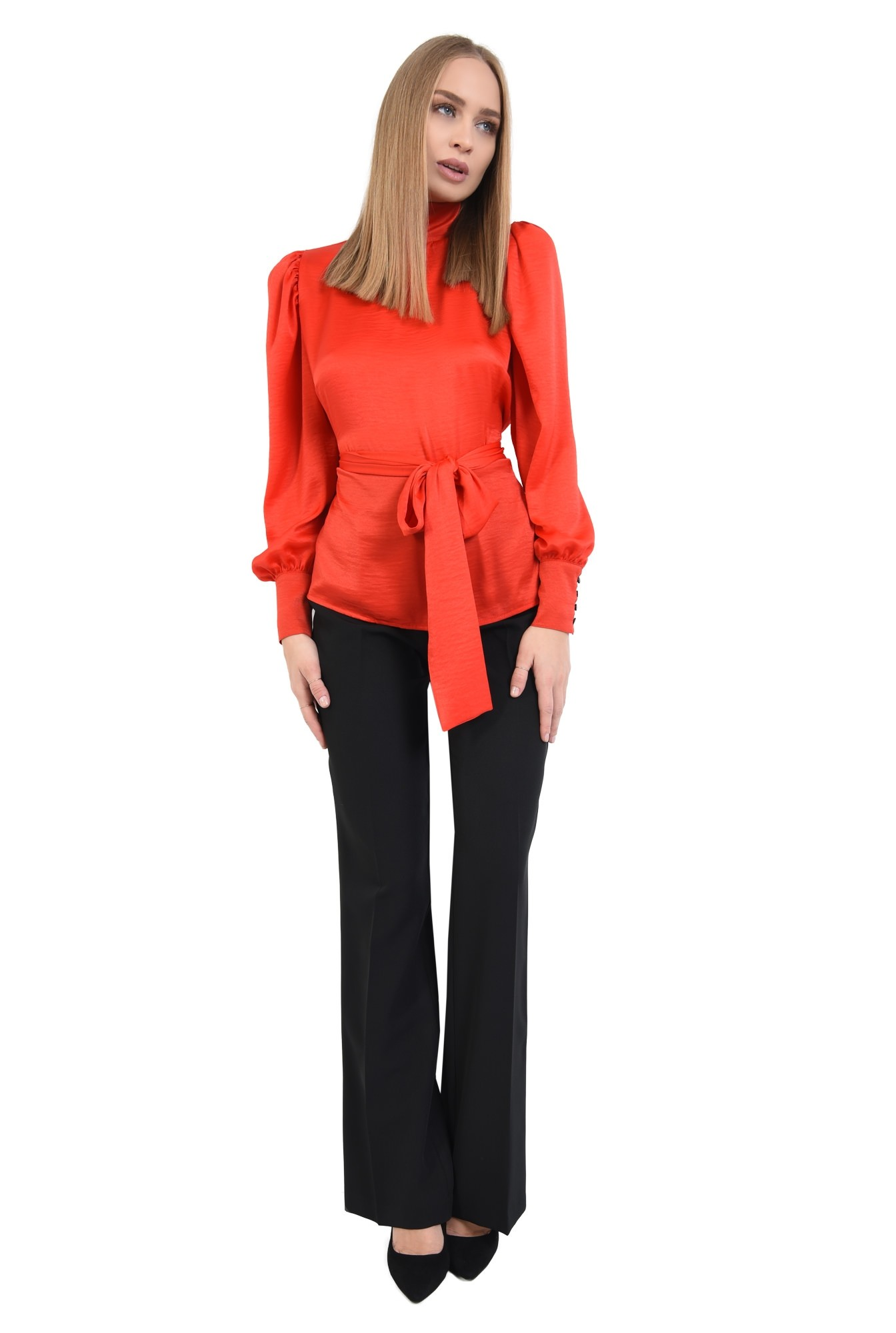 3 - 360 - bluza de ocazie, rosu, cu funda, cu maneci lungi