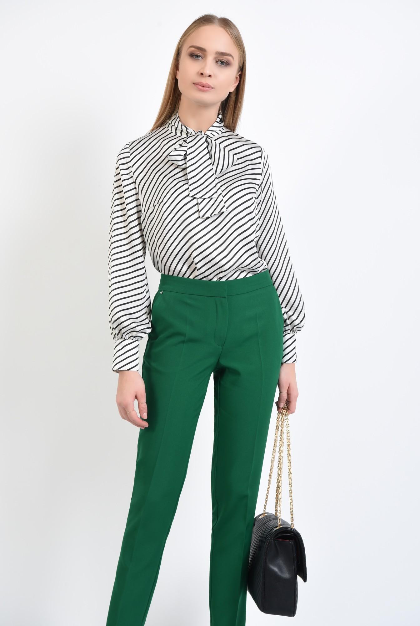 0 - 360 - bluza de zi, cu funda, dungi alb-negru
