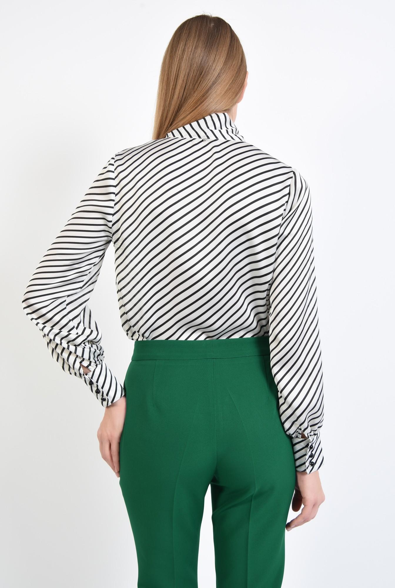 1 - 360 - bluza de zi, cu funda, dungi alb-negru