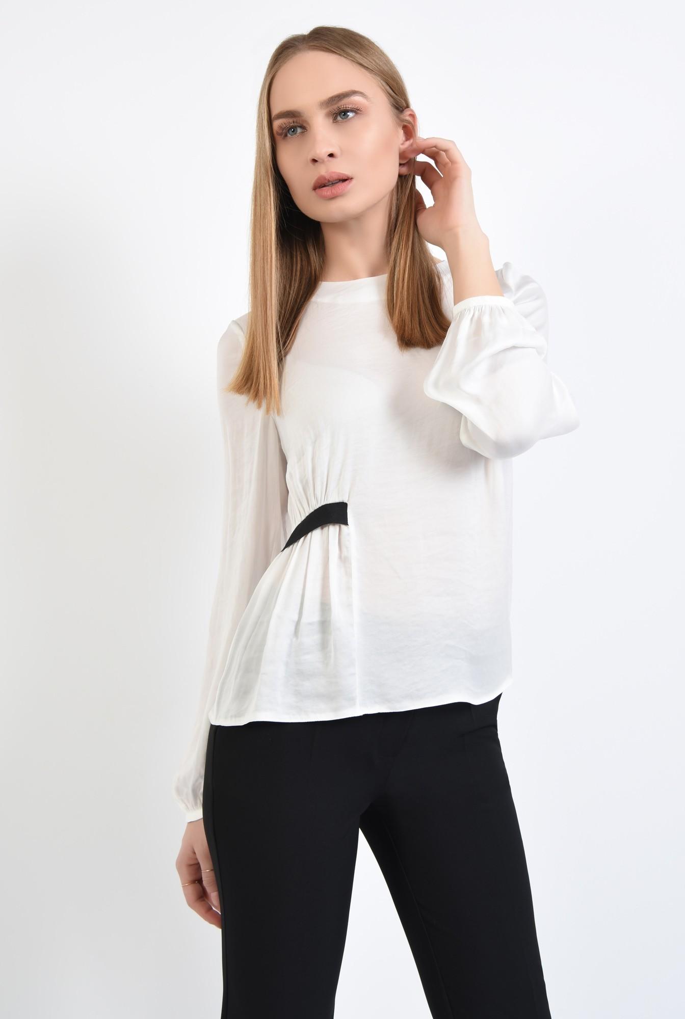 0 - 360 - bluza cu rips, casual, croi lejer, maneci lungi