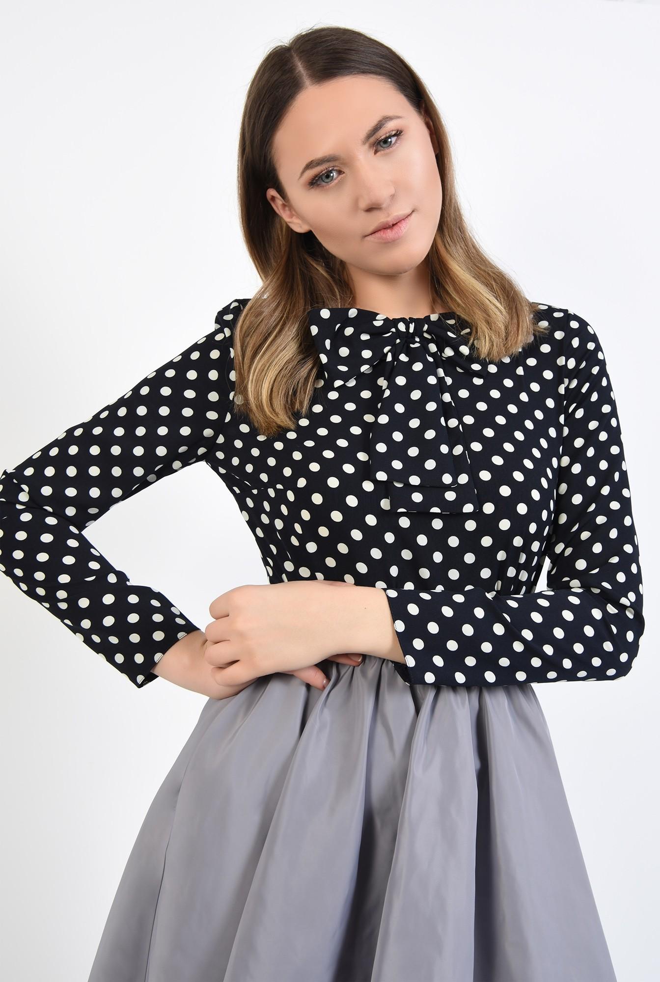 3 - 360 - bluza de zi, cu imprimeu, funda aplicata, maneci drepte