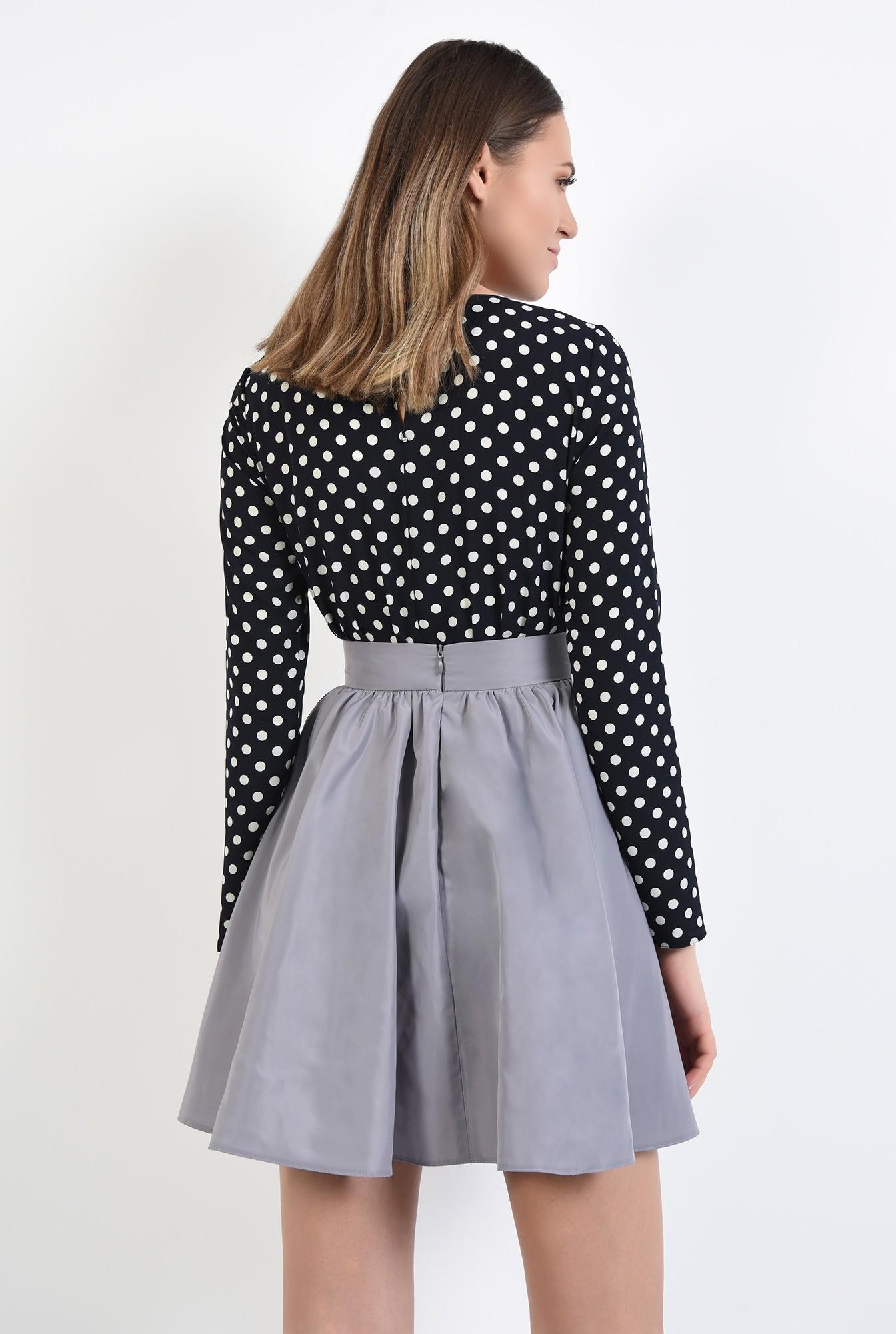2 - 360 - bluza de zi, cu imprimeu, funda aplicata, maneci drepte