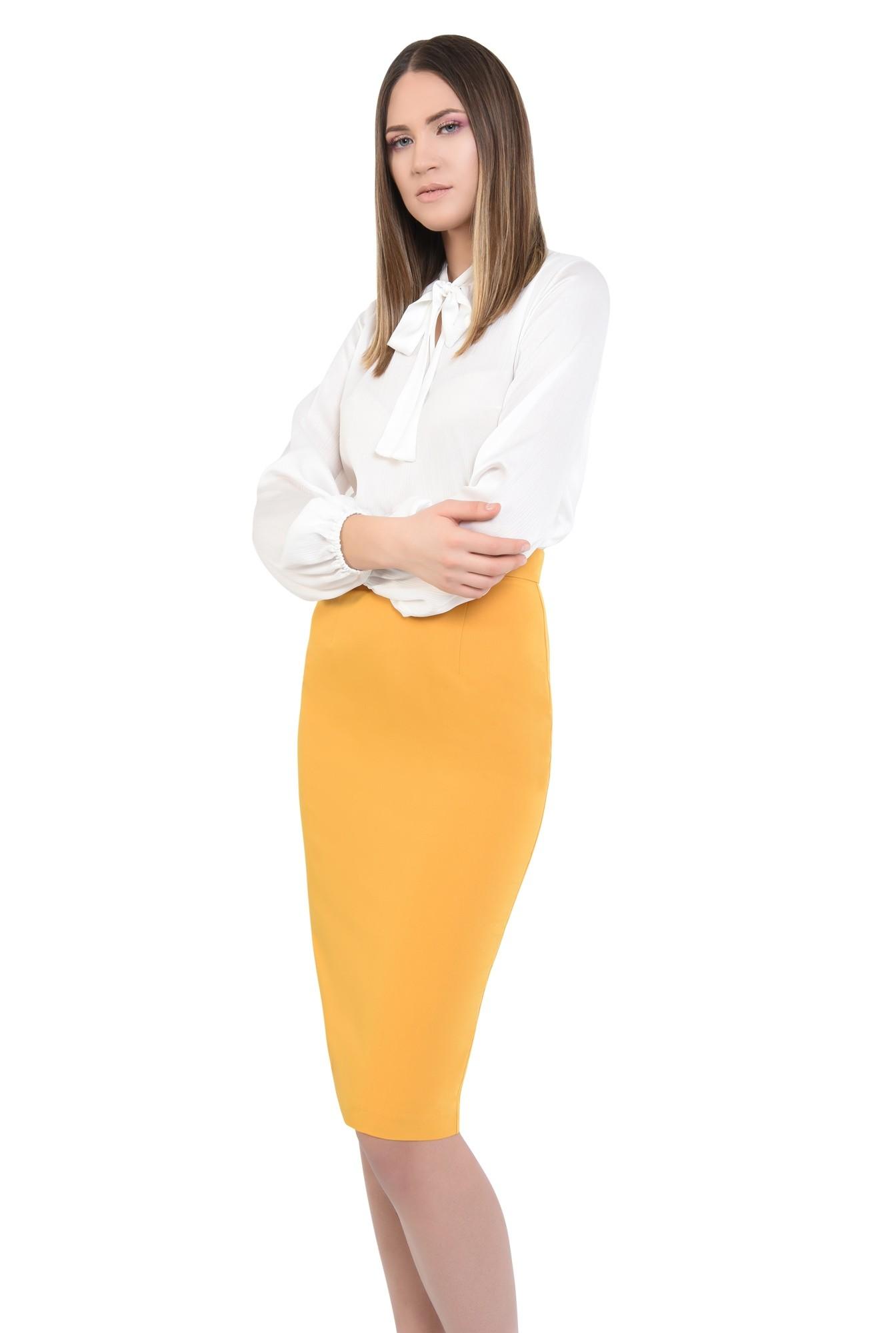 2 - bluza office, cu funda, guler esarfa subtire, bluze de zi