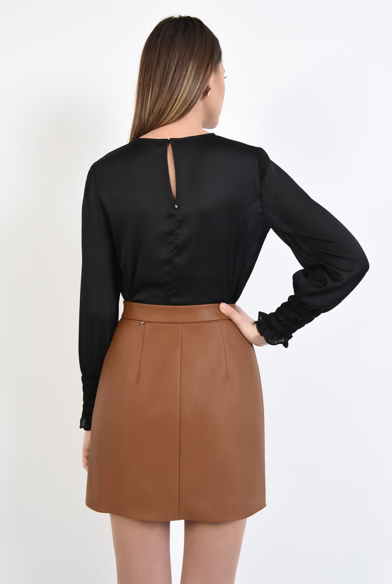 1 - 360 - bluza eleganta, din crep, tesatura texturata, bluza neagra, bluze online