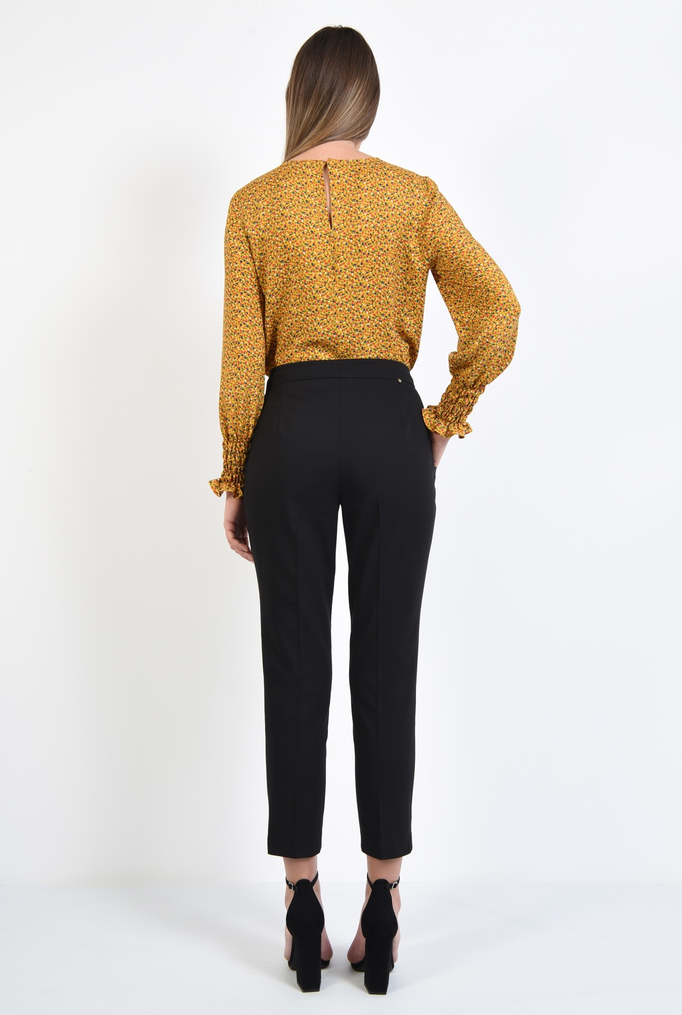 1 - 360 - bluza casual, din viscoza imprimata, maneci lungi cu mansete elastice