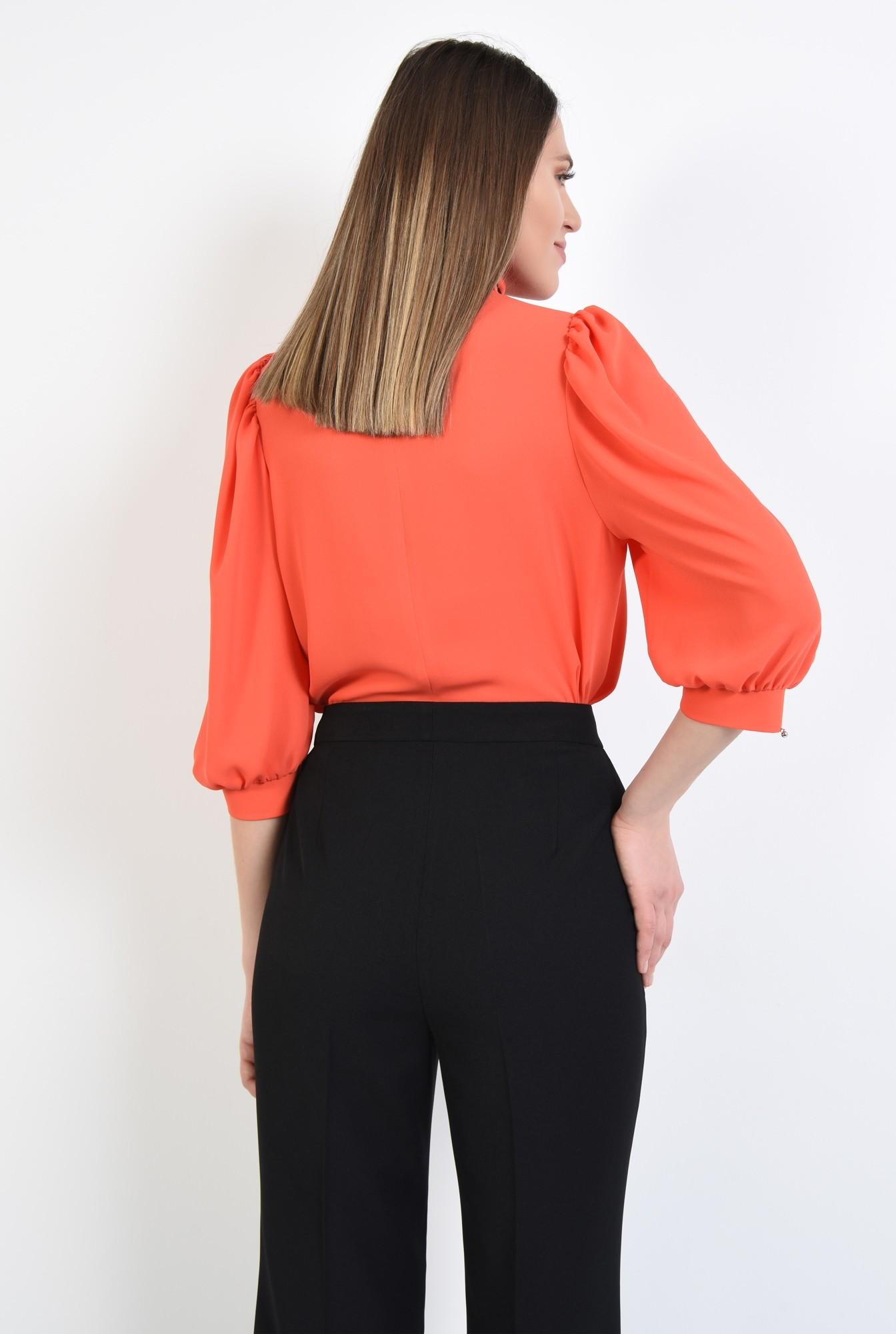 1 - 360 - bluza eleganta, maneci 3/4 cu mansete, funda neagra, bluza din sifon