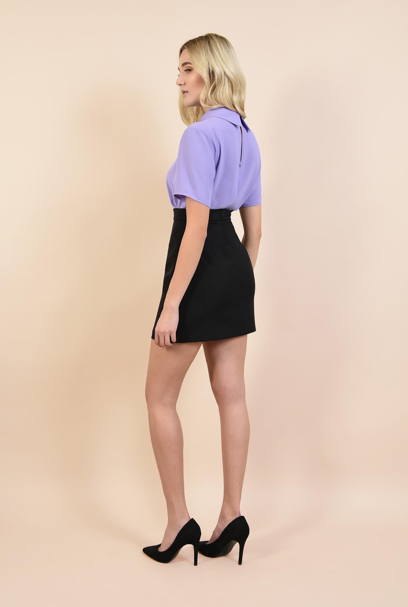1 - bluza lila, bluze online, cu guler ascutit, cu jabou