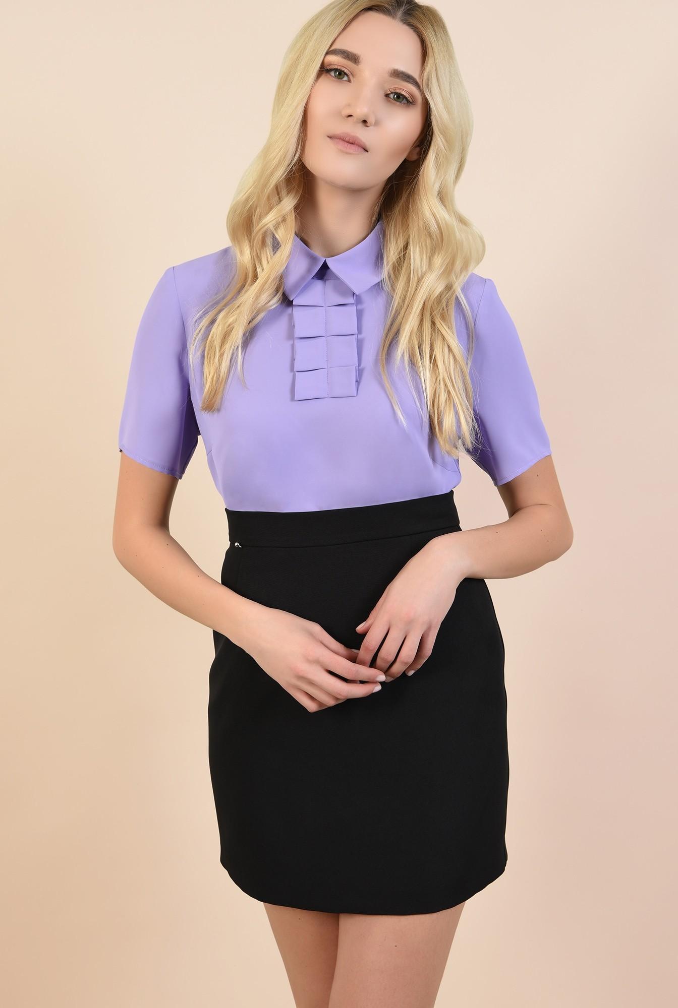 0 - bluza lila, bluze online, cu guler ascutit, cu jabou