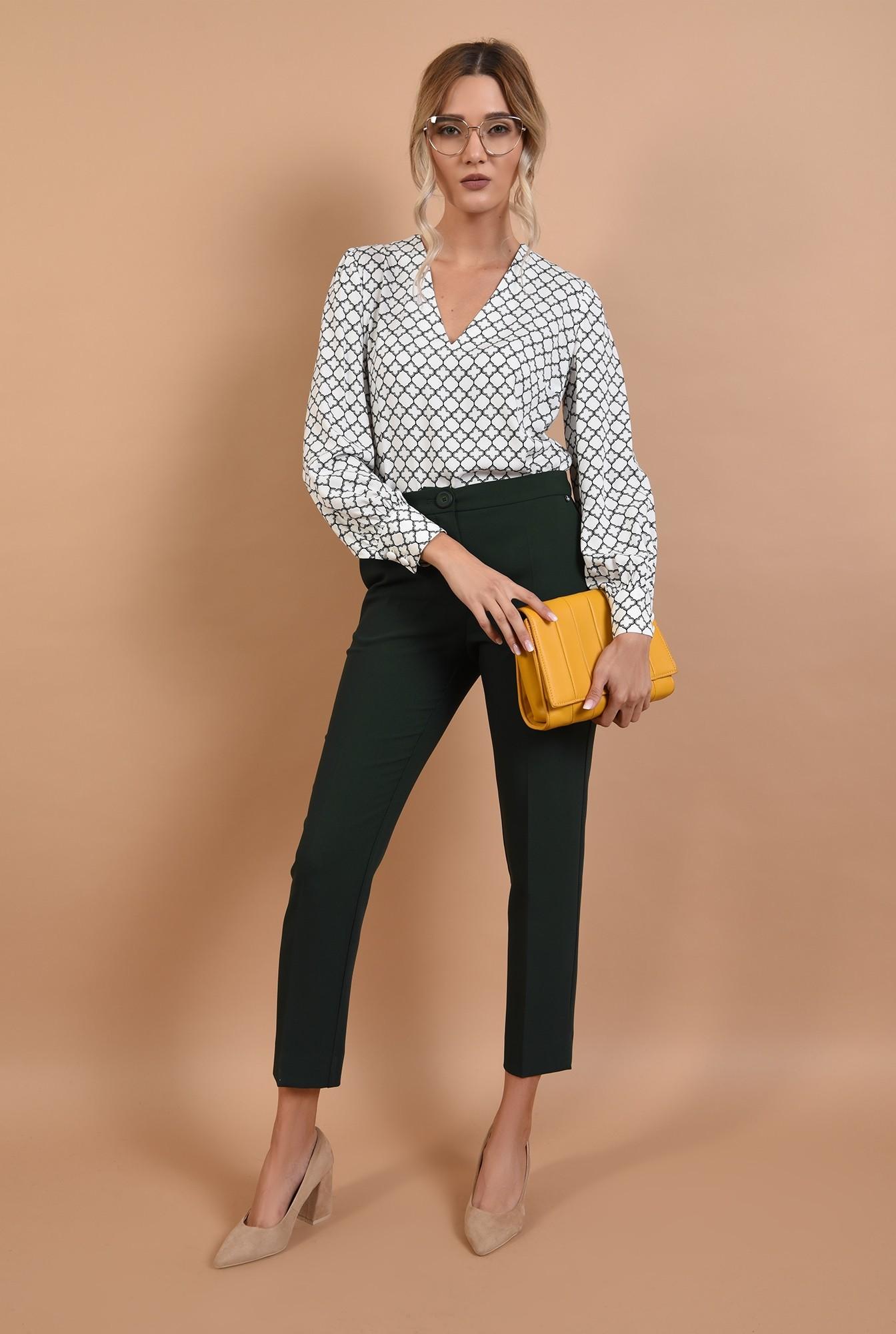 3 - bluza casual, cu anchior, imprimeu alb-negru, Poema
