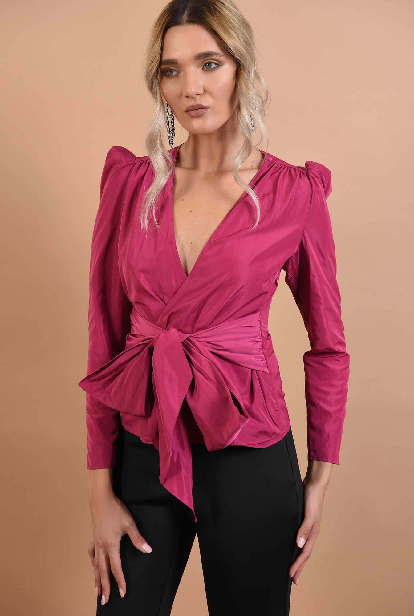 2 - bluza de seara, petrecuta, cu cordon, funda, umeri bufanti