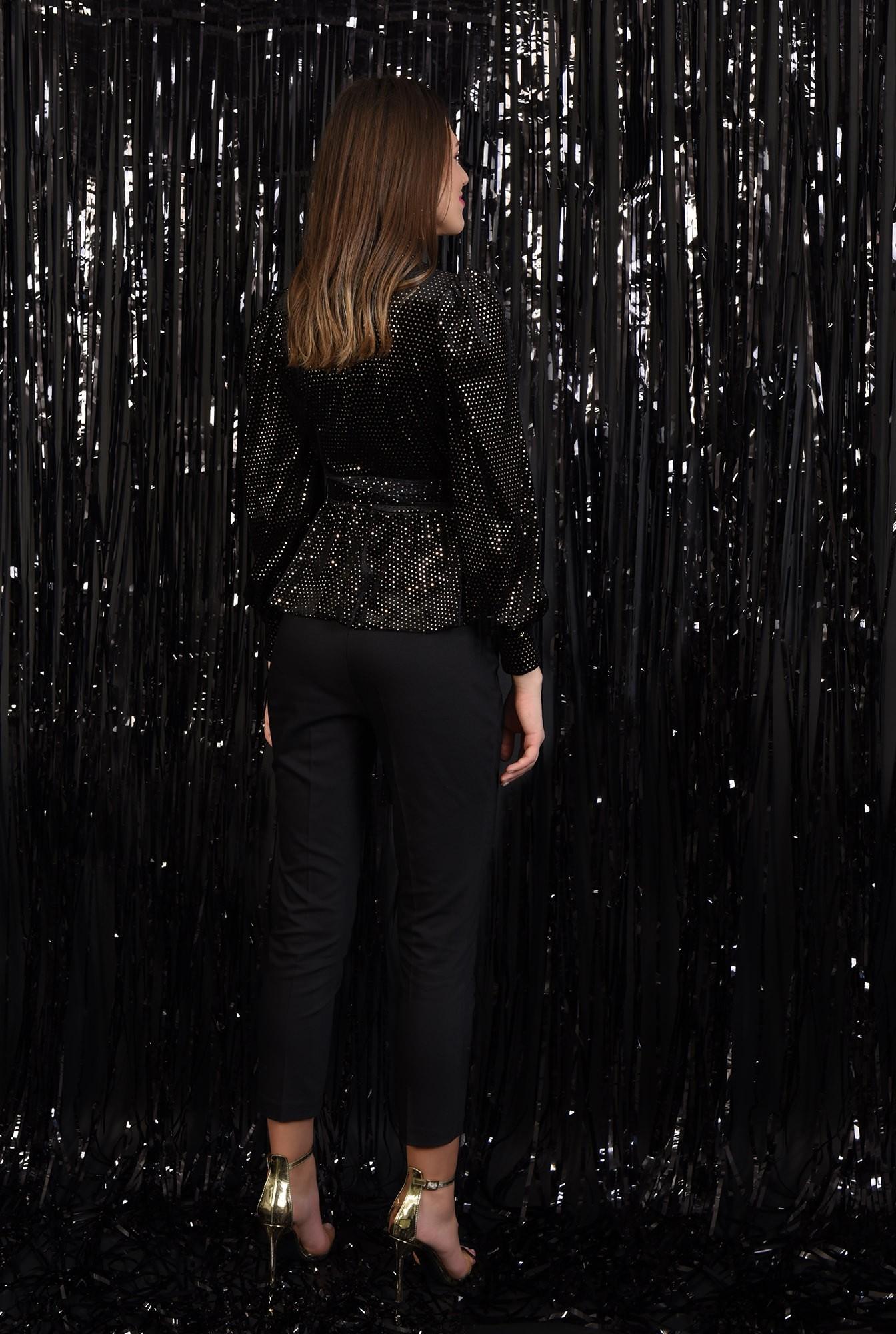 1 - 360 - bluza eleganta, cu paiete, cambrata, cu funda, maneci bufante