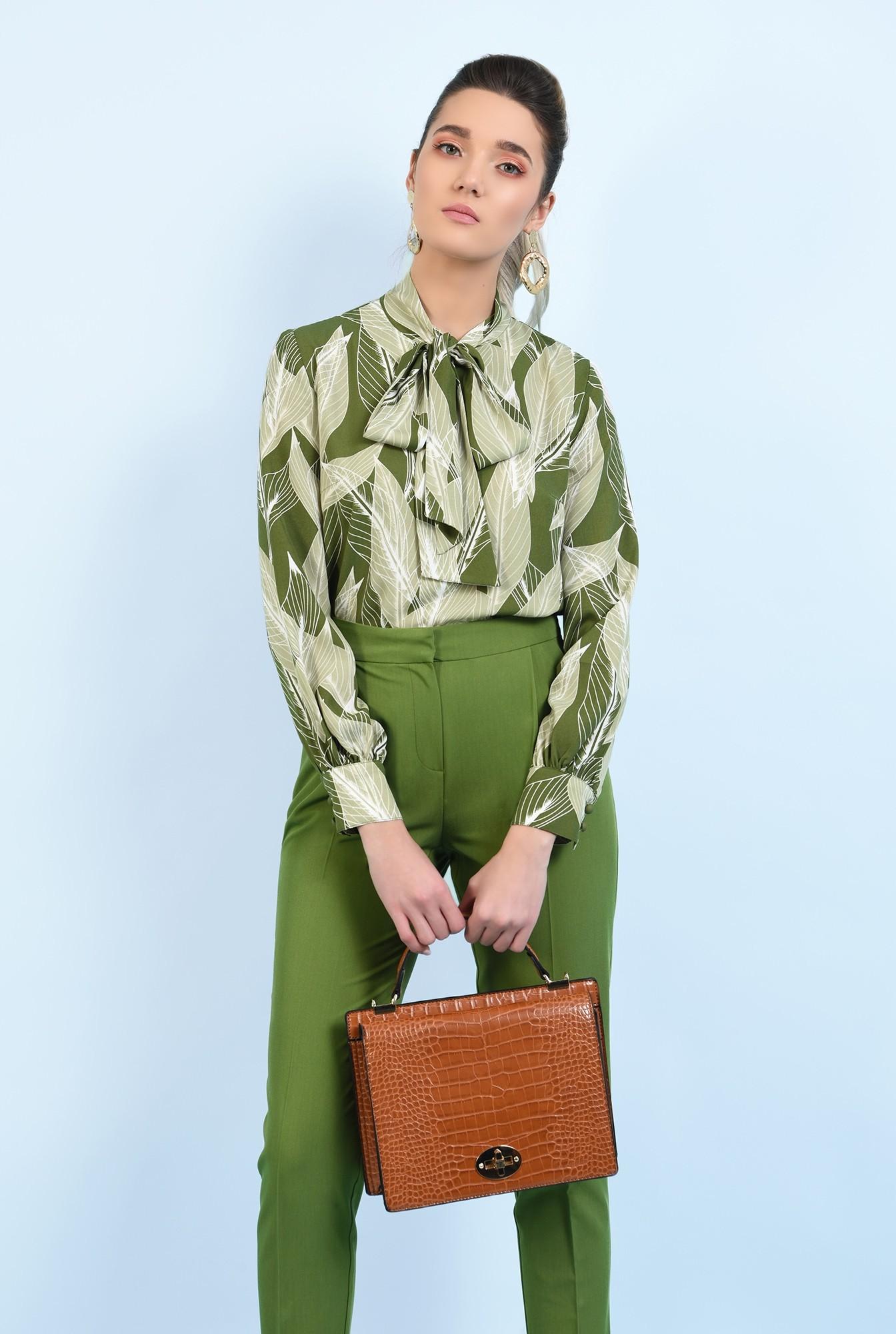 0 - bluza casual, cu imprimeu, maneci lungi, bluza de primavara