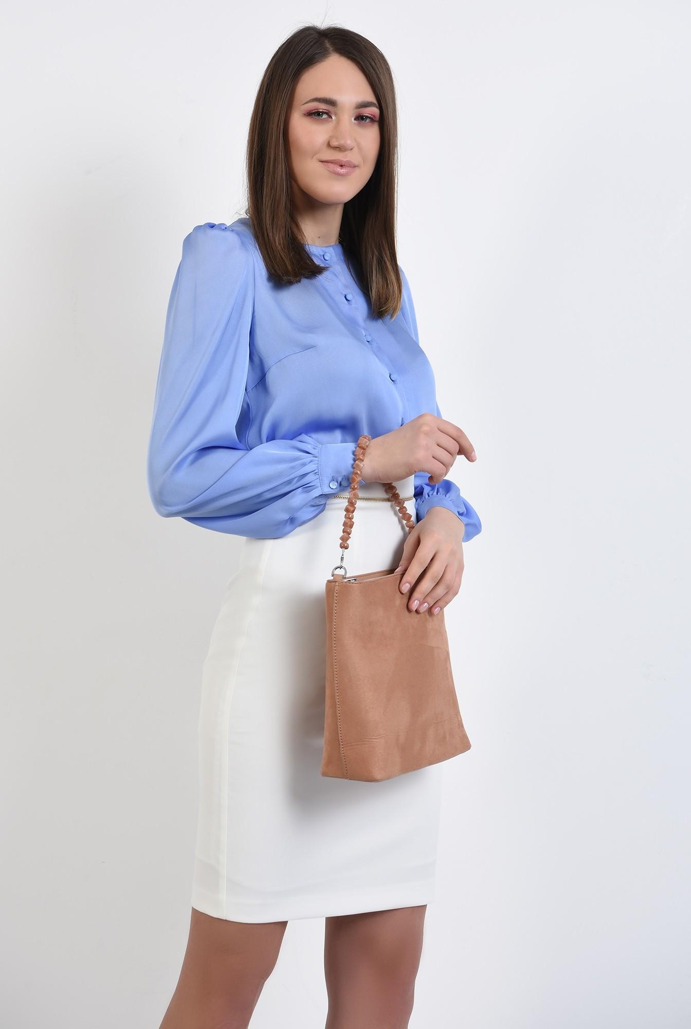 0 - bluza de primavara, office, cu nasturi, maneci lungi