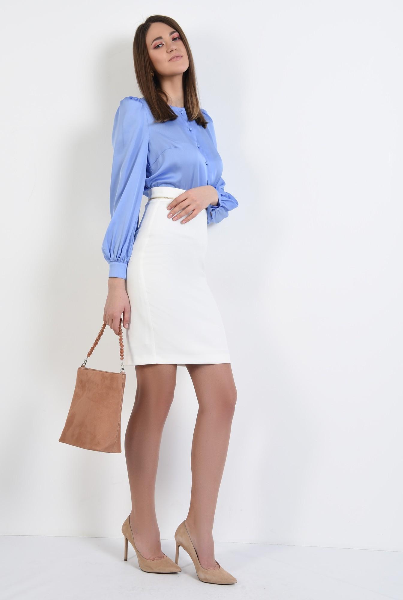 3 - bluza de primavara, office, cu nasturi, maneci lungi