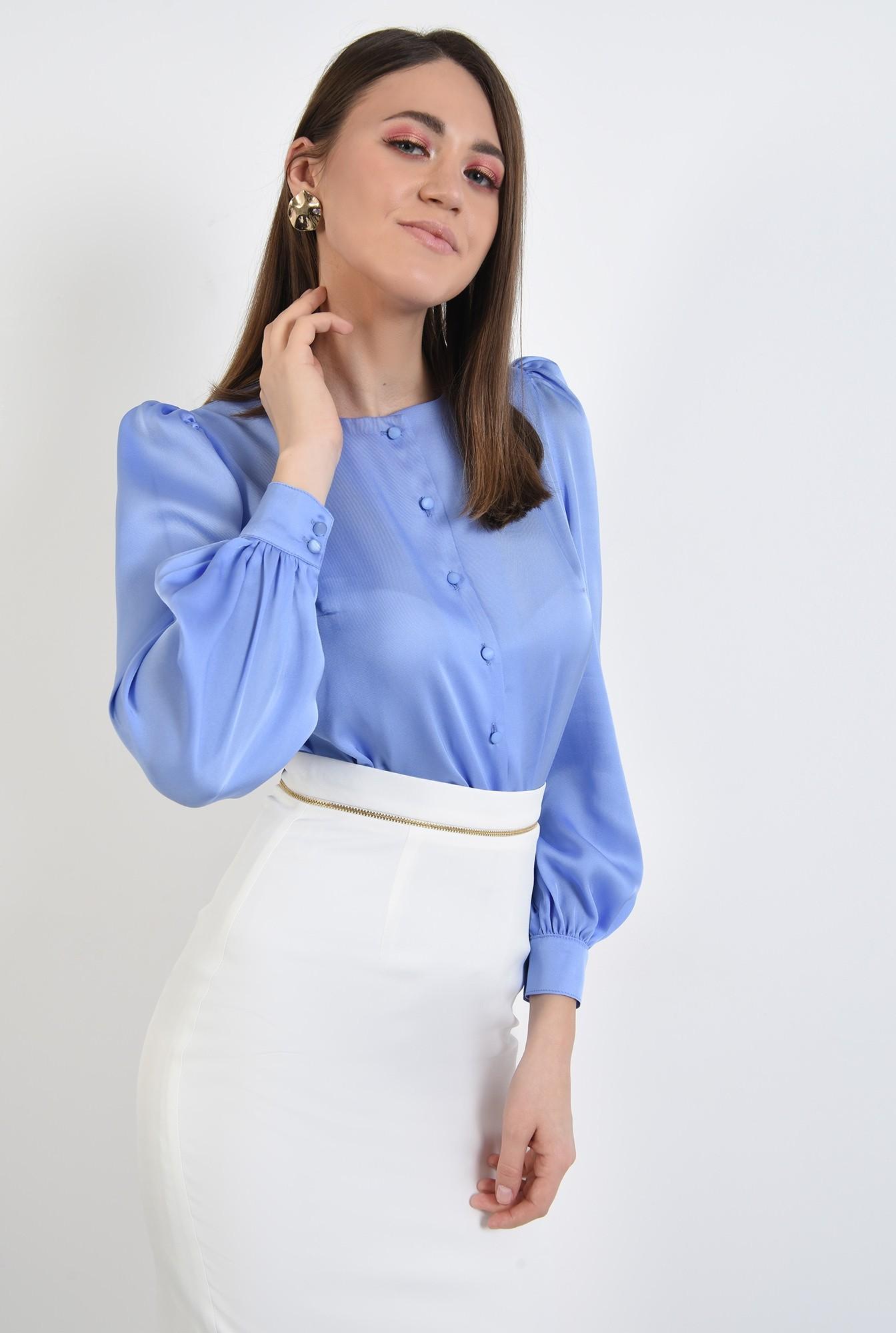 2 - bluza de primavara, office, cu nasturi, maneci lungi