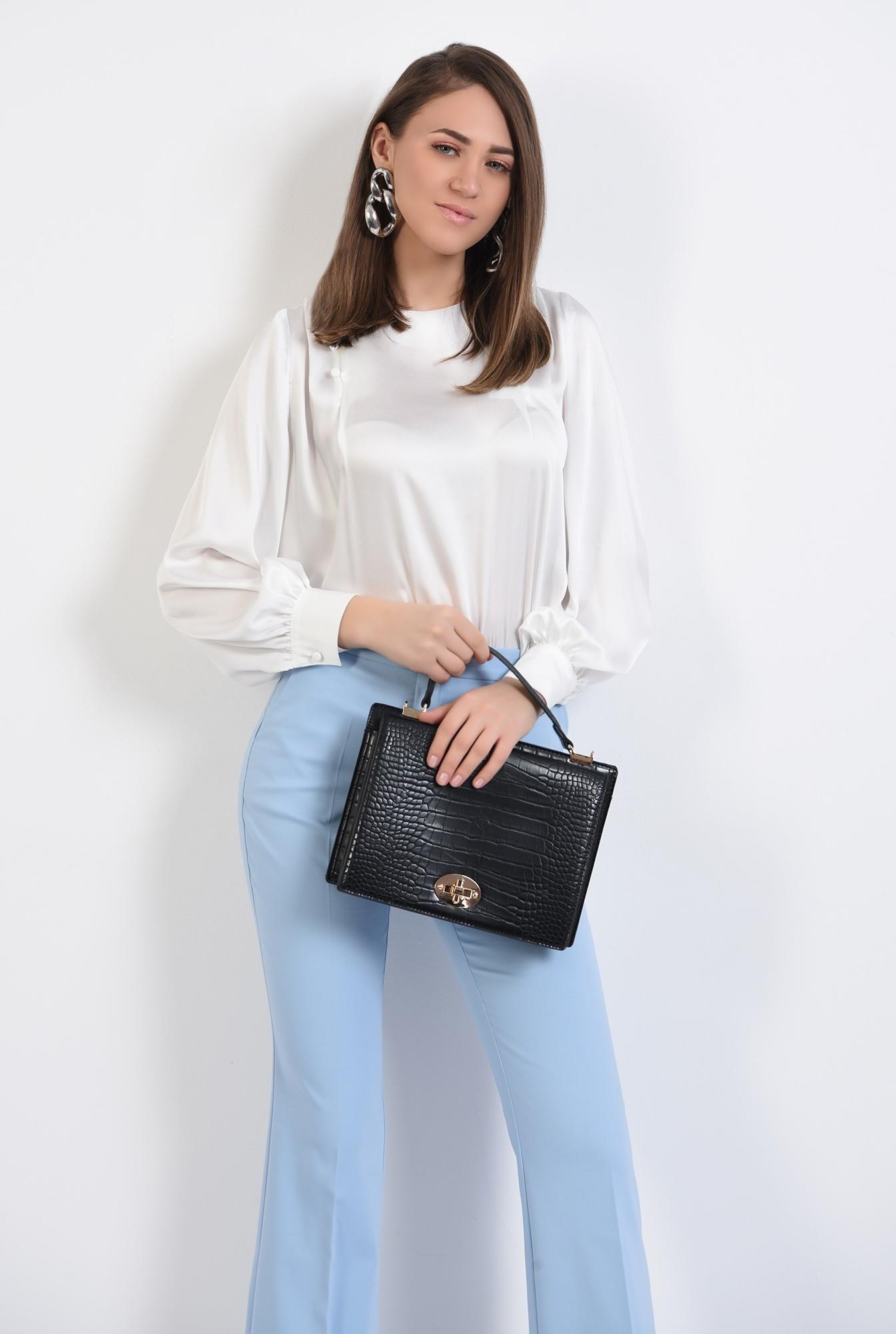 0 -  bluza eleganta, cu nasturi decorativi, maneci lungi, din satin