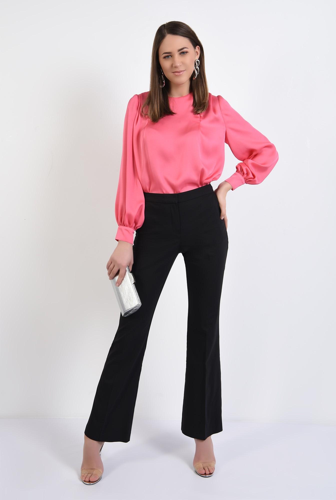 3 - bluza eleganta, cu nasturi decorativi, maneci lungi, din satin, bluza de ocazie