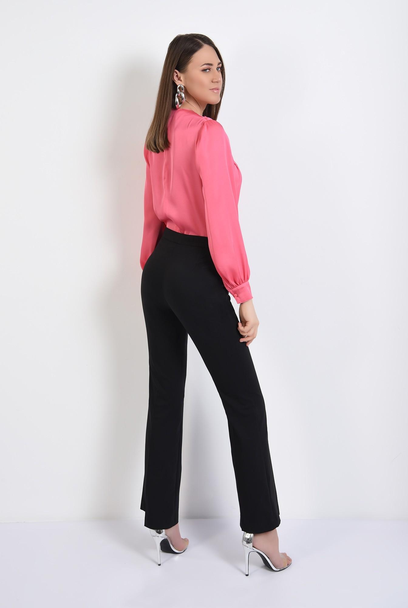 1 - bluza eleganta, cu nasturi decorativi, maneci lungi, din satin, bluza de ocazie