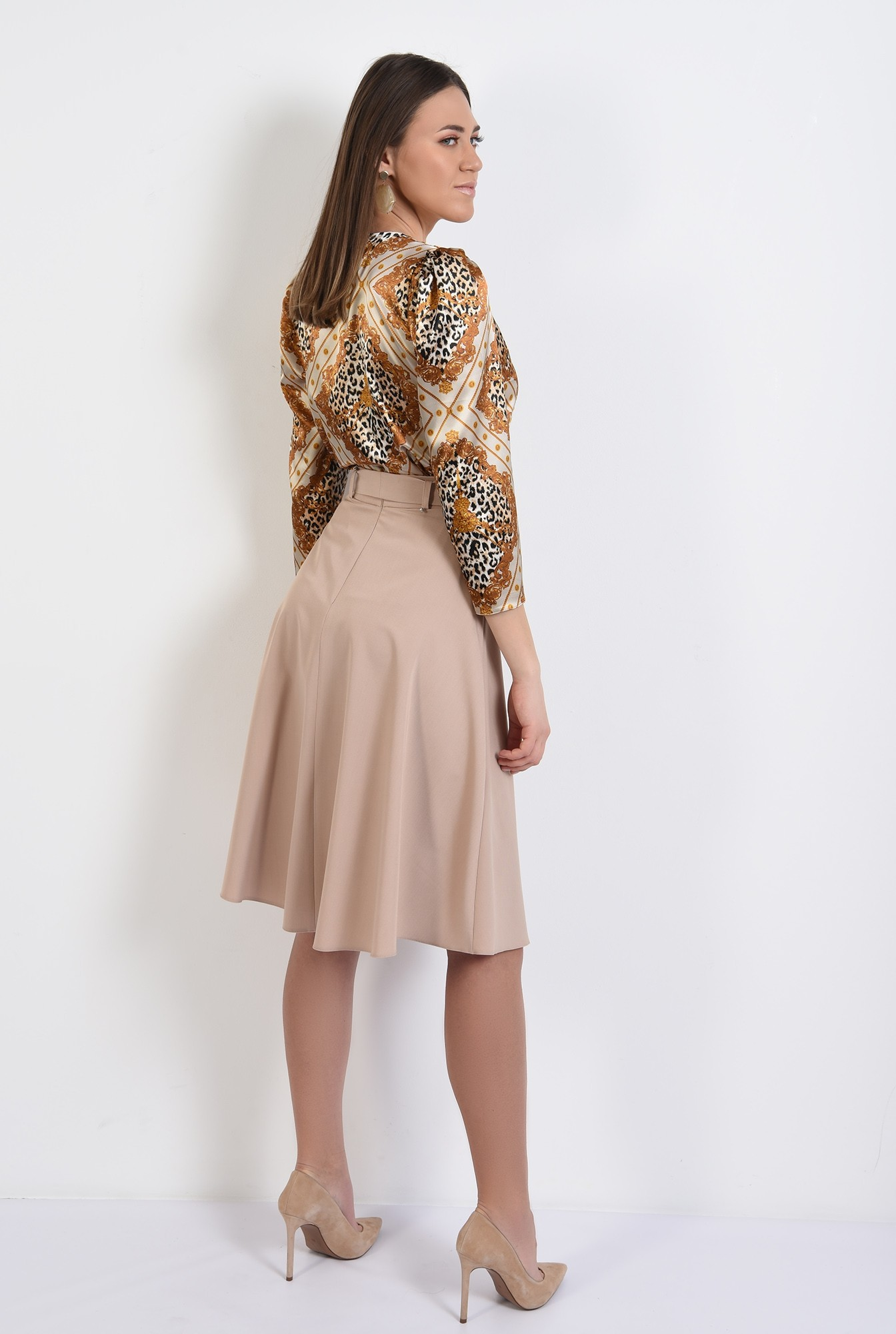 1 - bluza eleganta, din satin, cu imprimeu, animal print, bluza de primavara