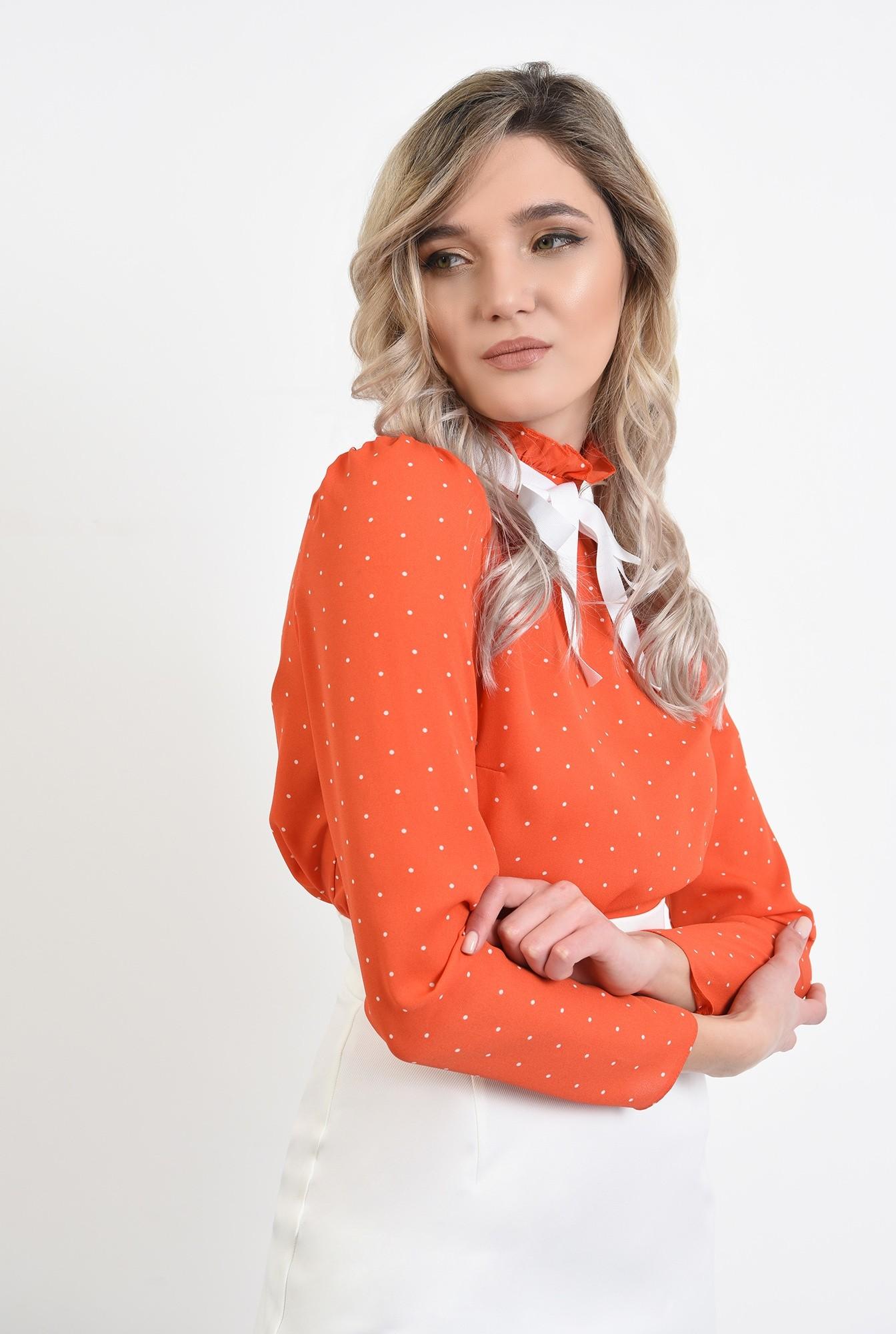 2 -  bluza buline, maneci lungi, funda in contrast, guler incretit