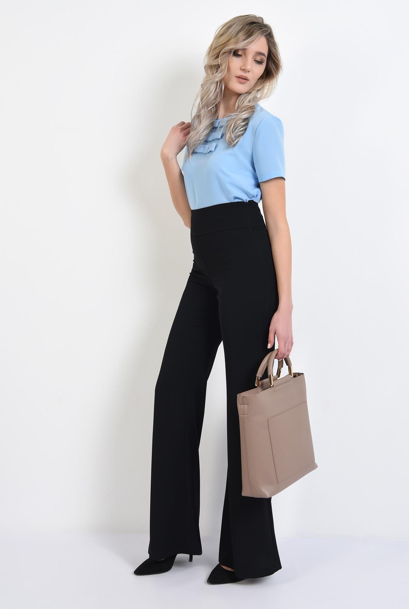 3 -  bluza de zi, office, cu maneci scurte, cu funde, bluza de birou