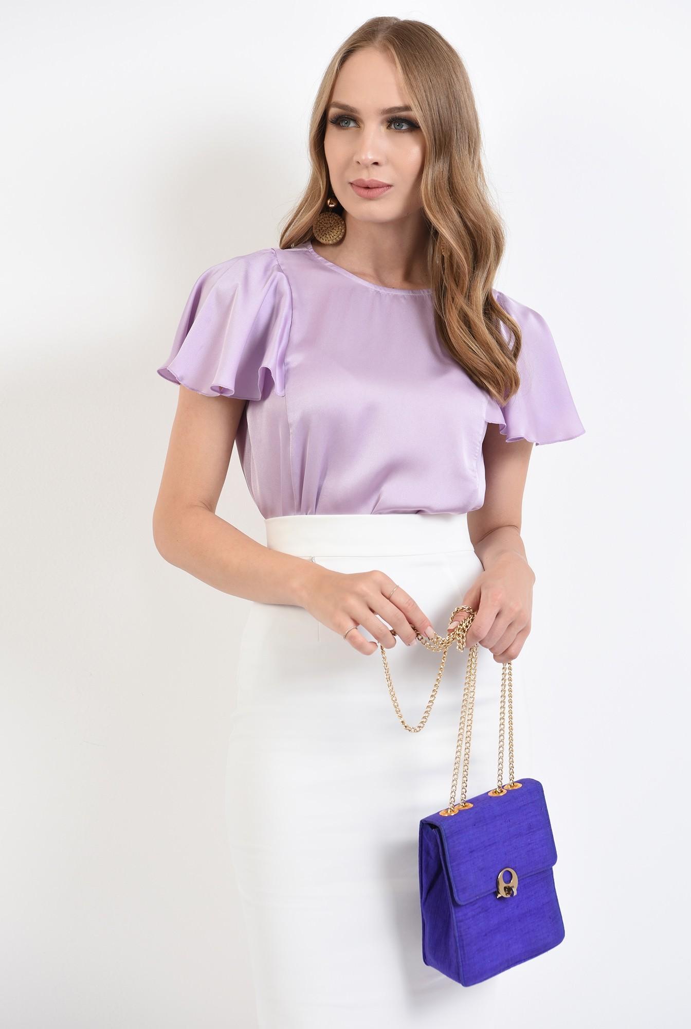 2 - 360 - bluza lila, cu maneca fluture, Poema